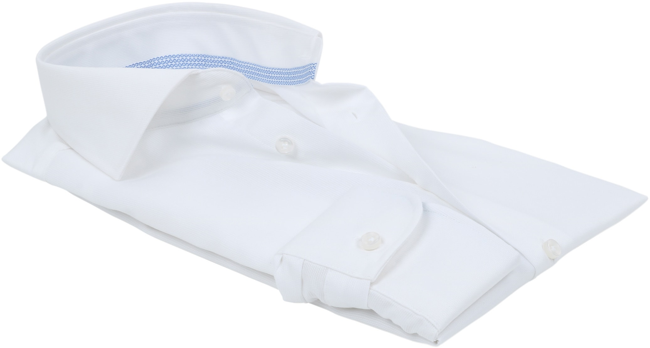 Profuomo Overhemd Uni Wit foto 2