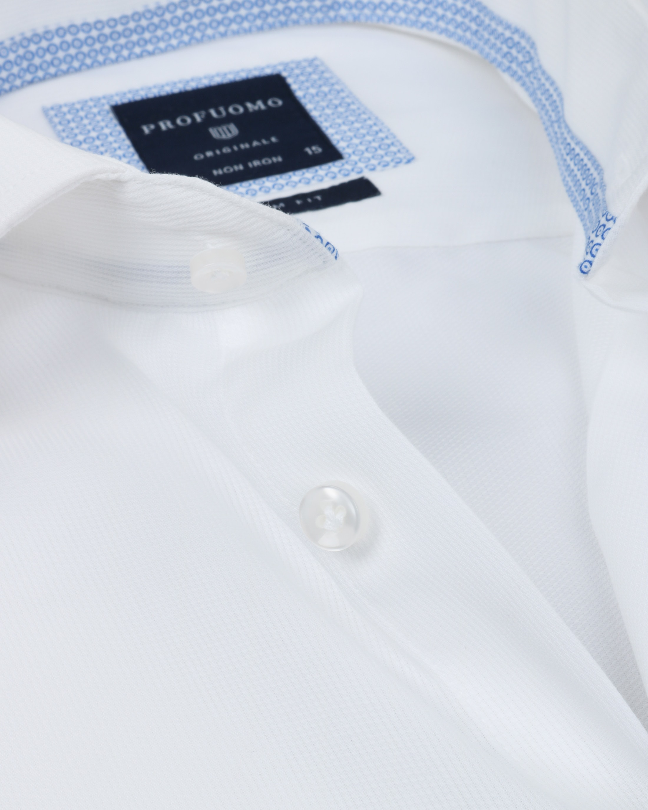 Profuomo Overhemd Uni Wit foto 3