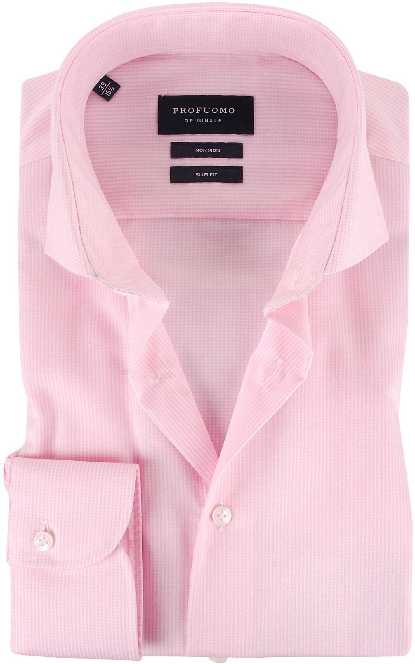 Profuomo Overhemden Cutaway Pink foto 0