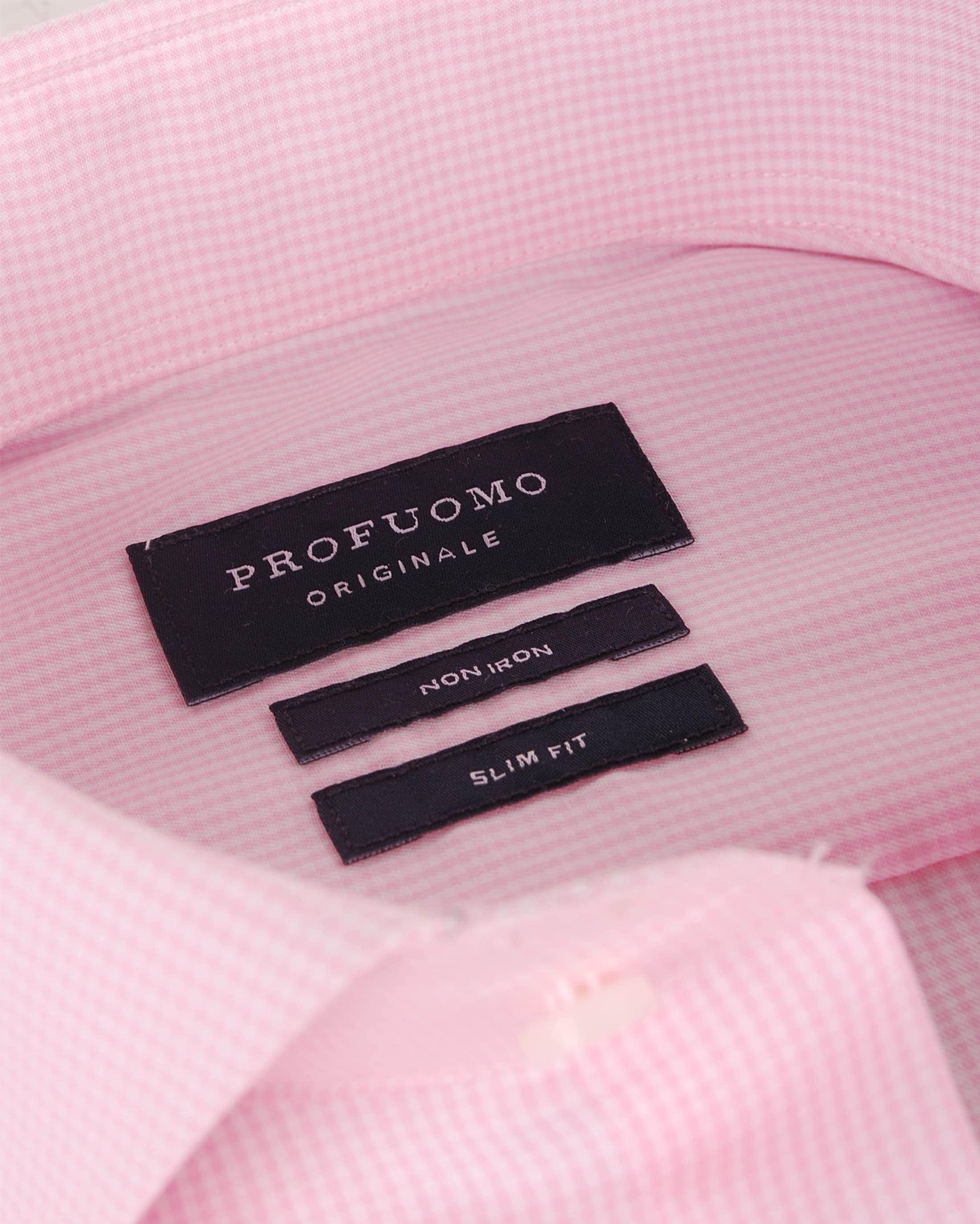 Profuomo Overhemden Cutaway Pink foto 1