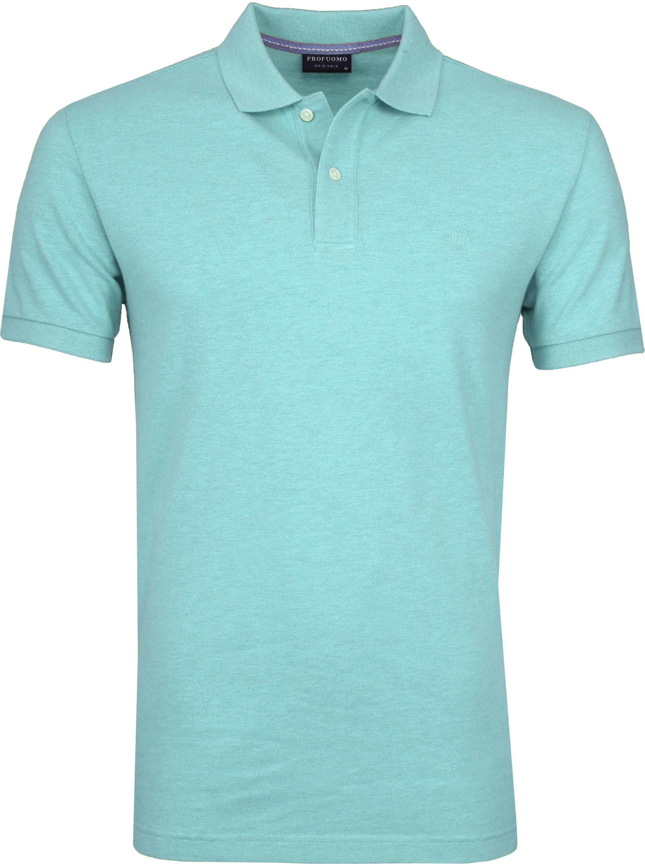 Profuomo Polo Melange Turquoise