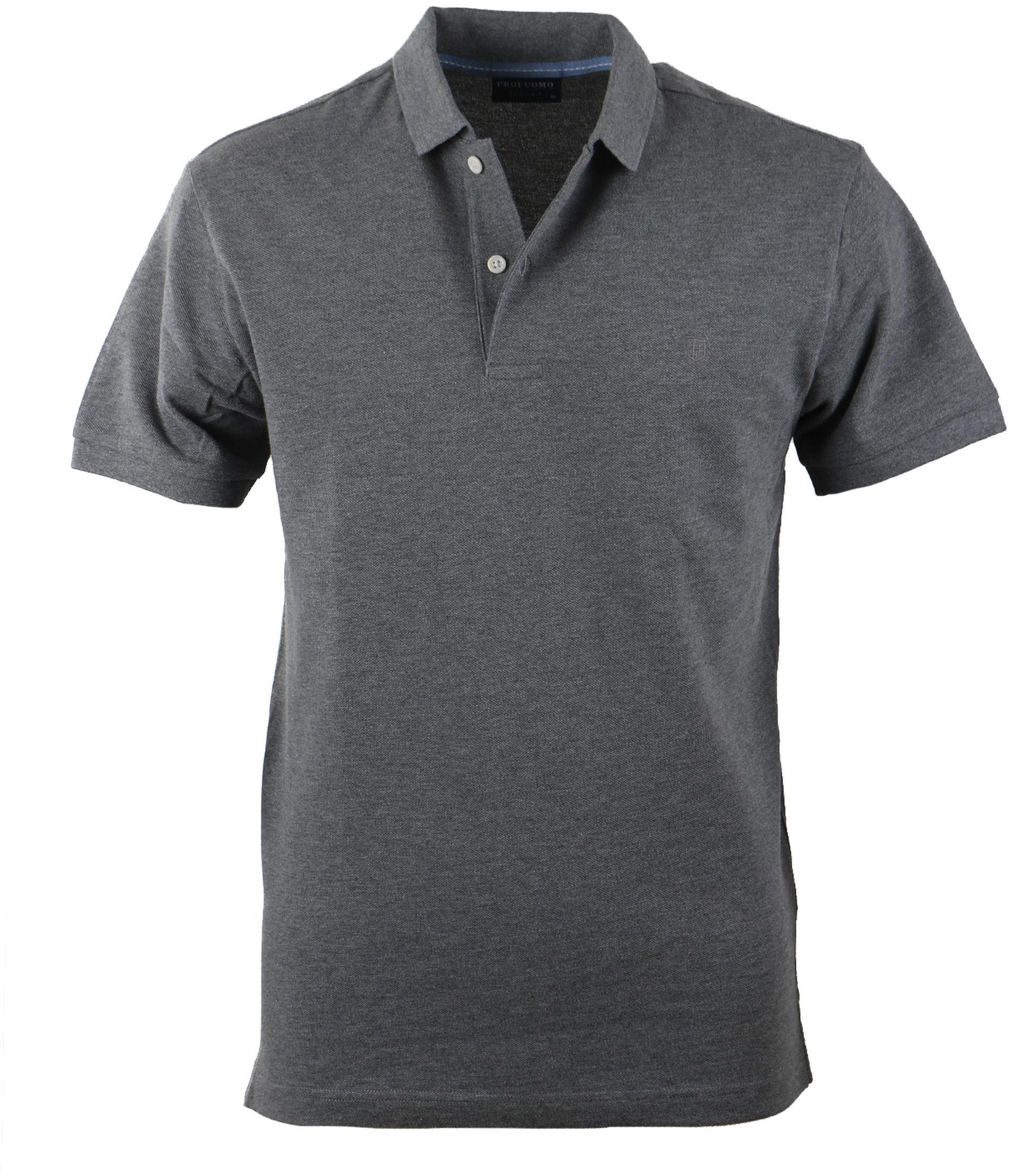 Profuomo Poloshirt Dark Grey Pp3j00016 Order Online Suitable