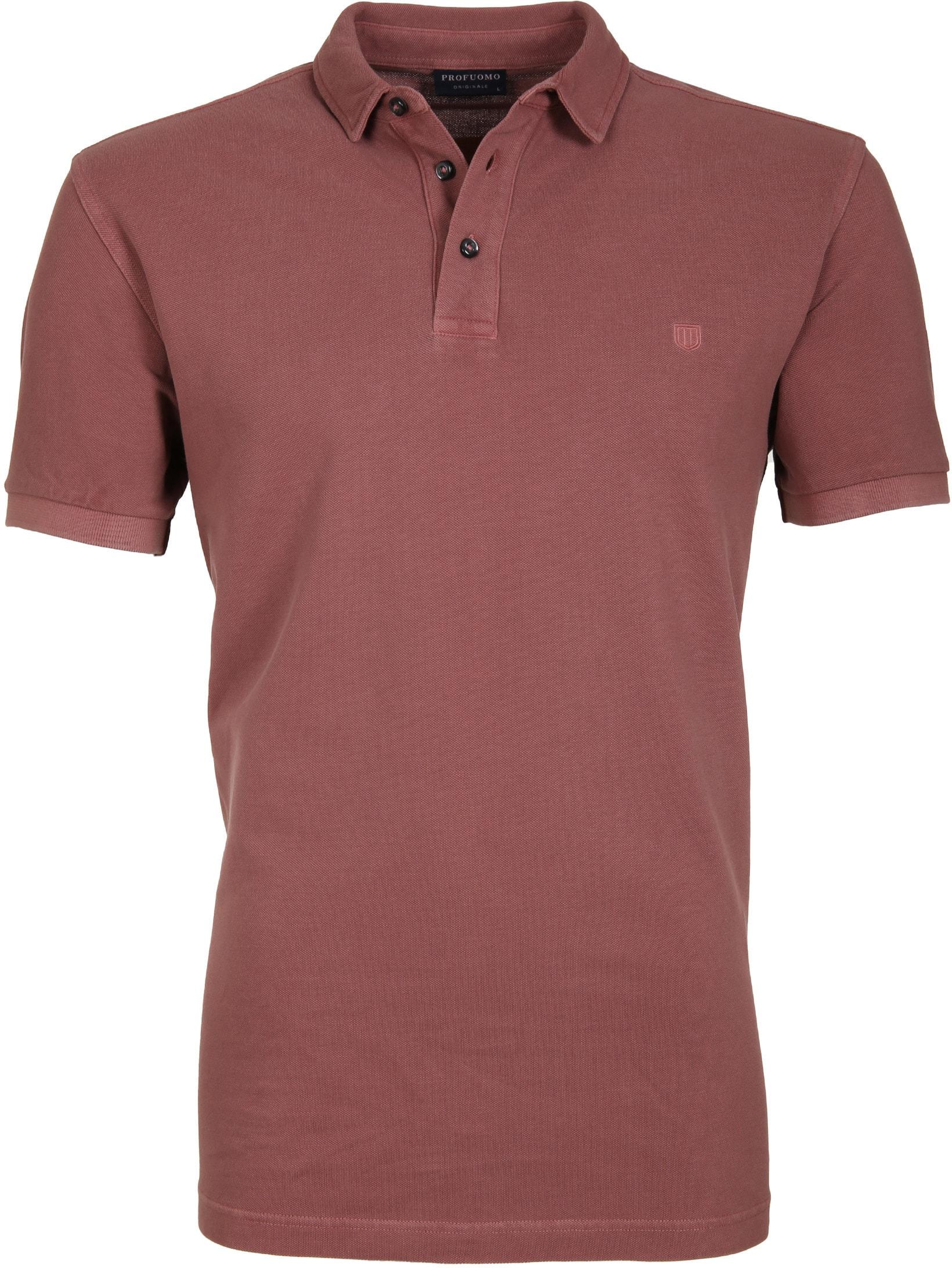 Profuomo Poloshirt Garment Bordeaux foto 0