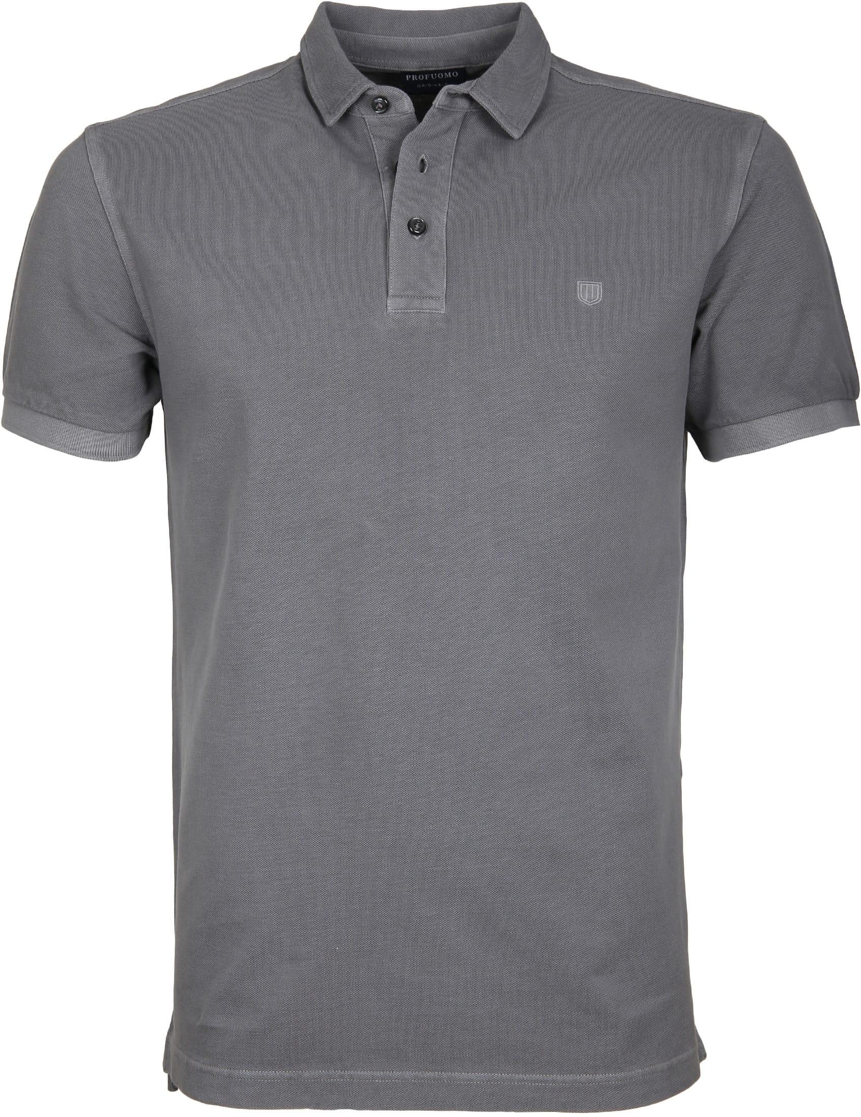 Profuomo Poloshirt Garment Grey foto 0