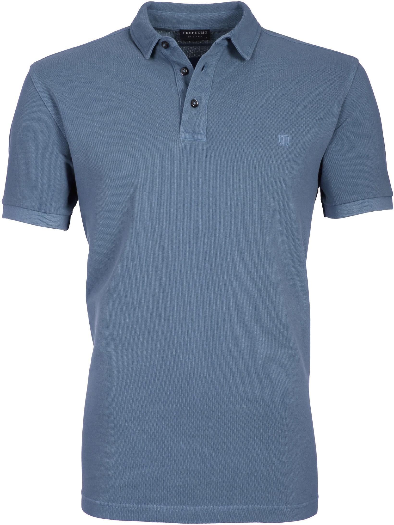 Profuomo Poloshirt Garment Indigo foto 0