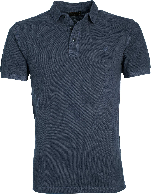 Profuomo Poloshirt Garment Navy foto 0