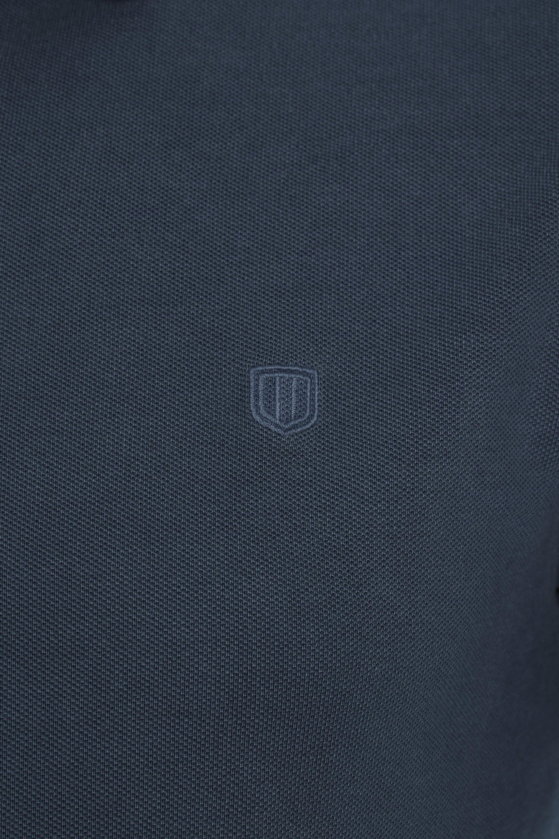 Profuomo Poloshirt Garment Navy foto 1