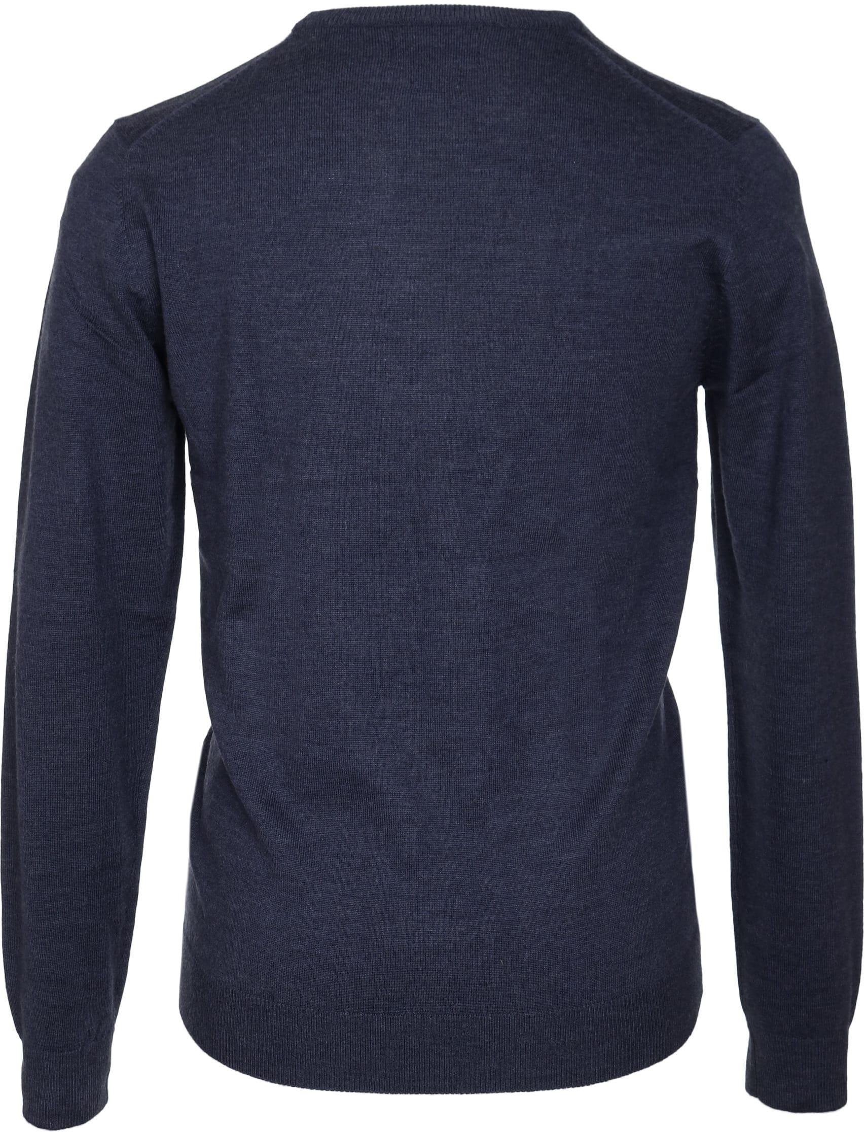 Profuomo Pullover O-Ausschnitt dunkelblau foto 2