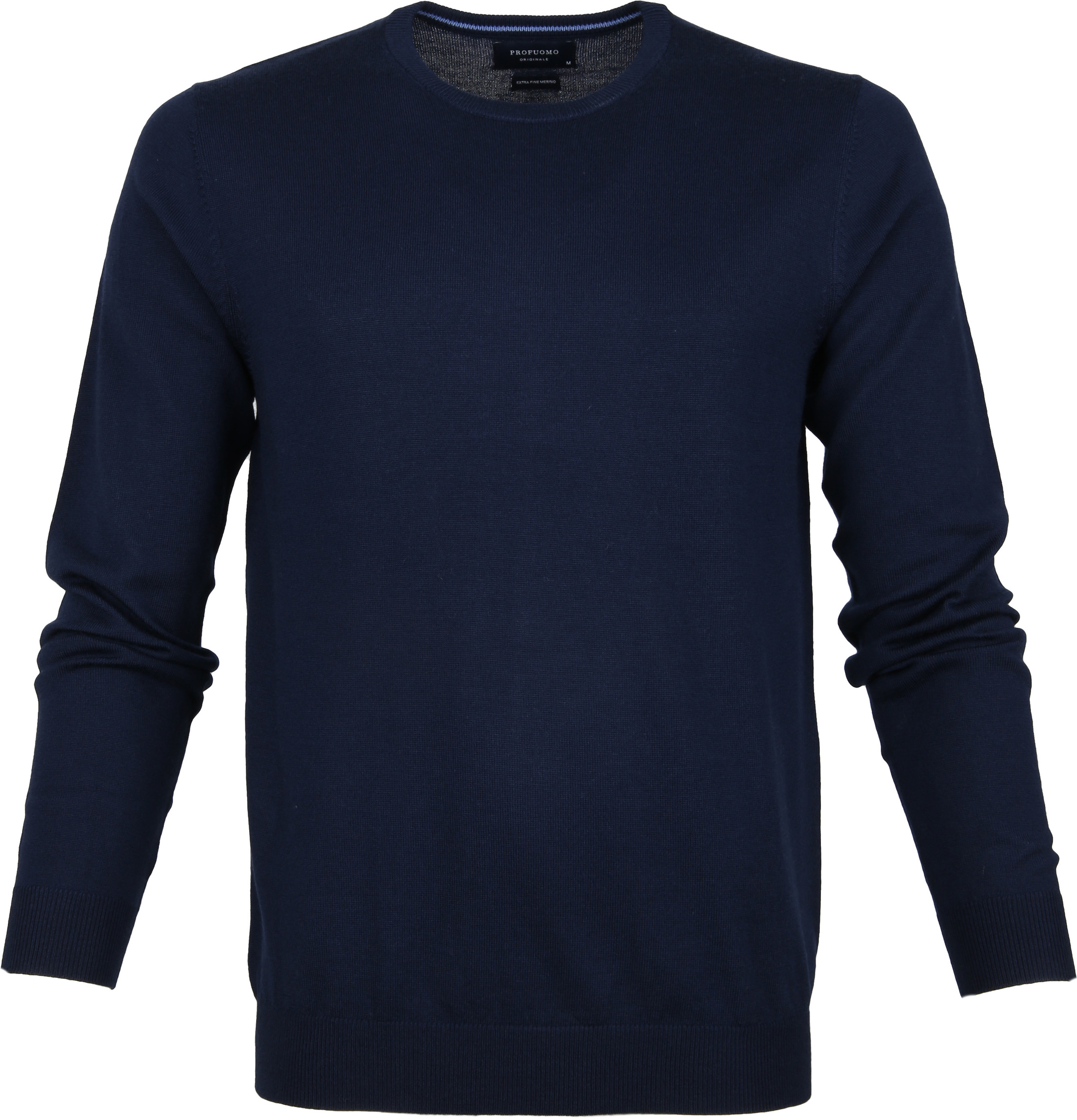 Profuomo Pullover O-Ausschnitt dunkelblau foto 0