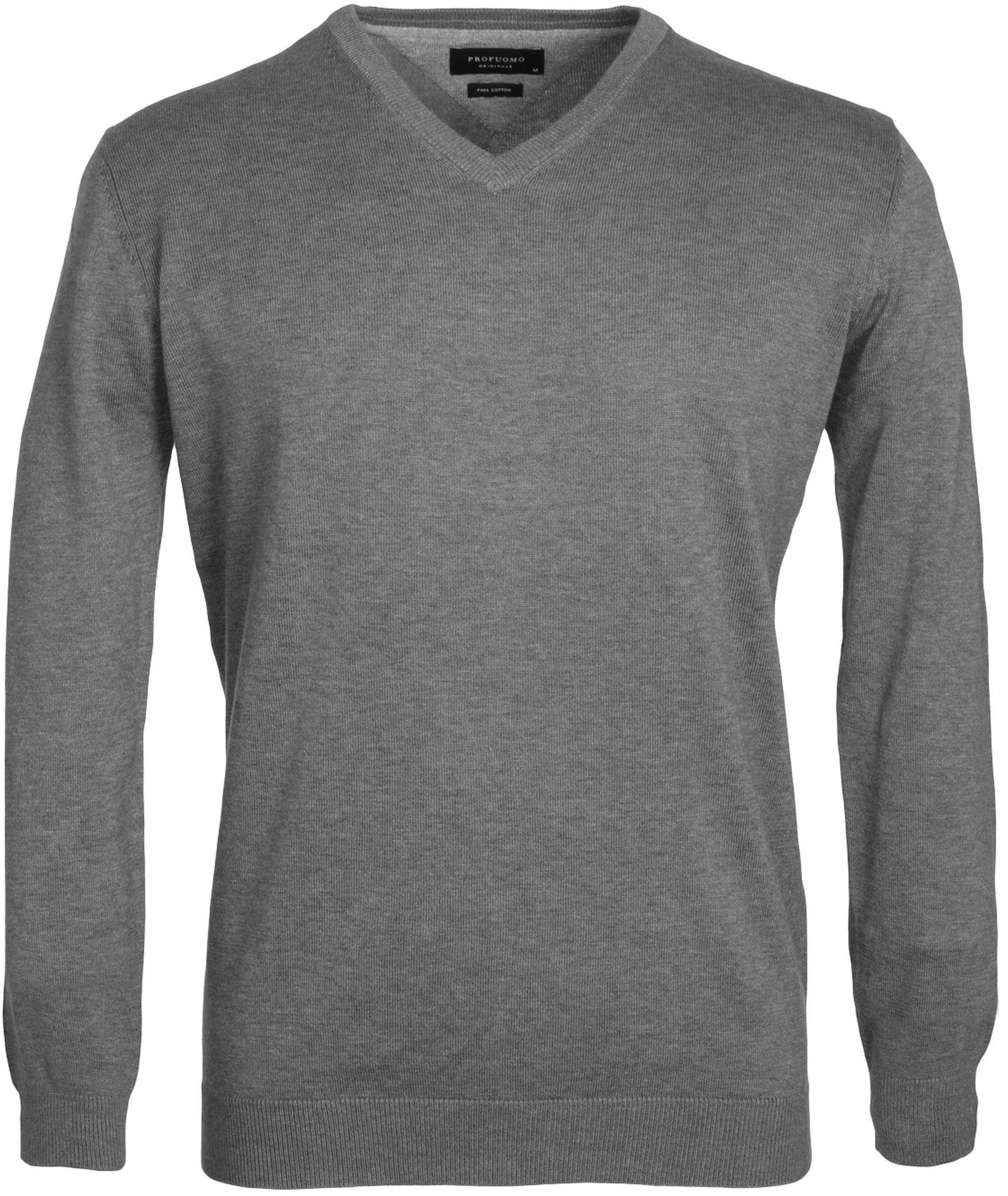 Profuomo Pullover V-Hals Grey foto 0