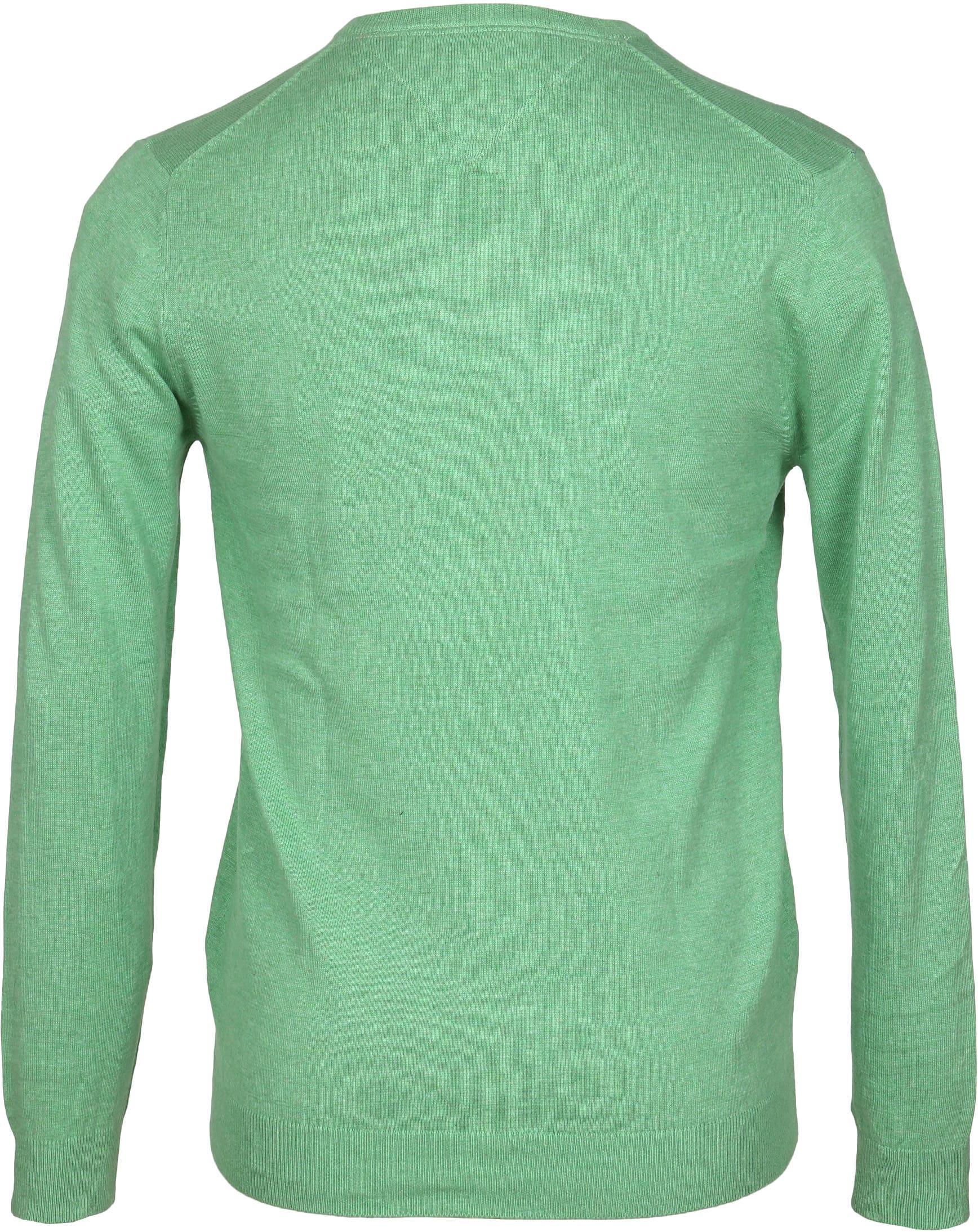 Profuomo Pullover V-Hals Groen foto 2