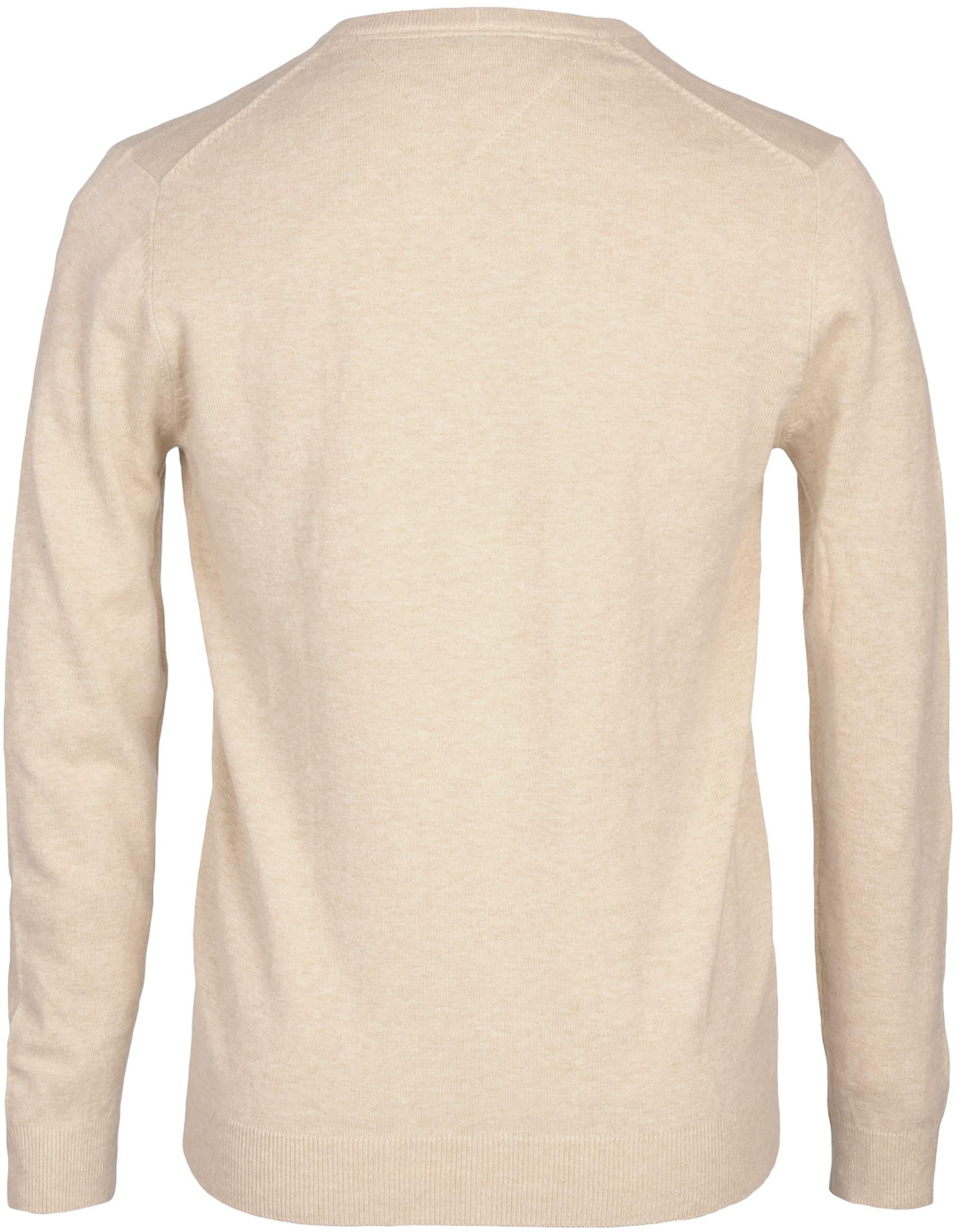 Profuomo Pullover V-Hals Sand foto 2