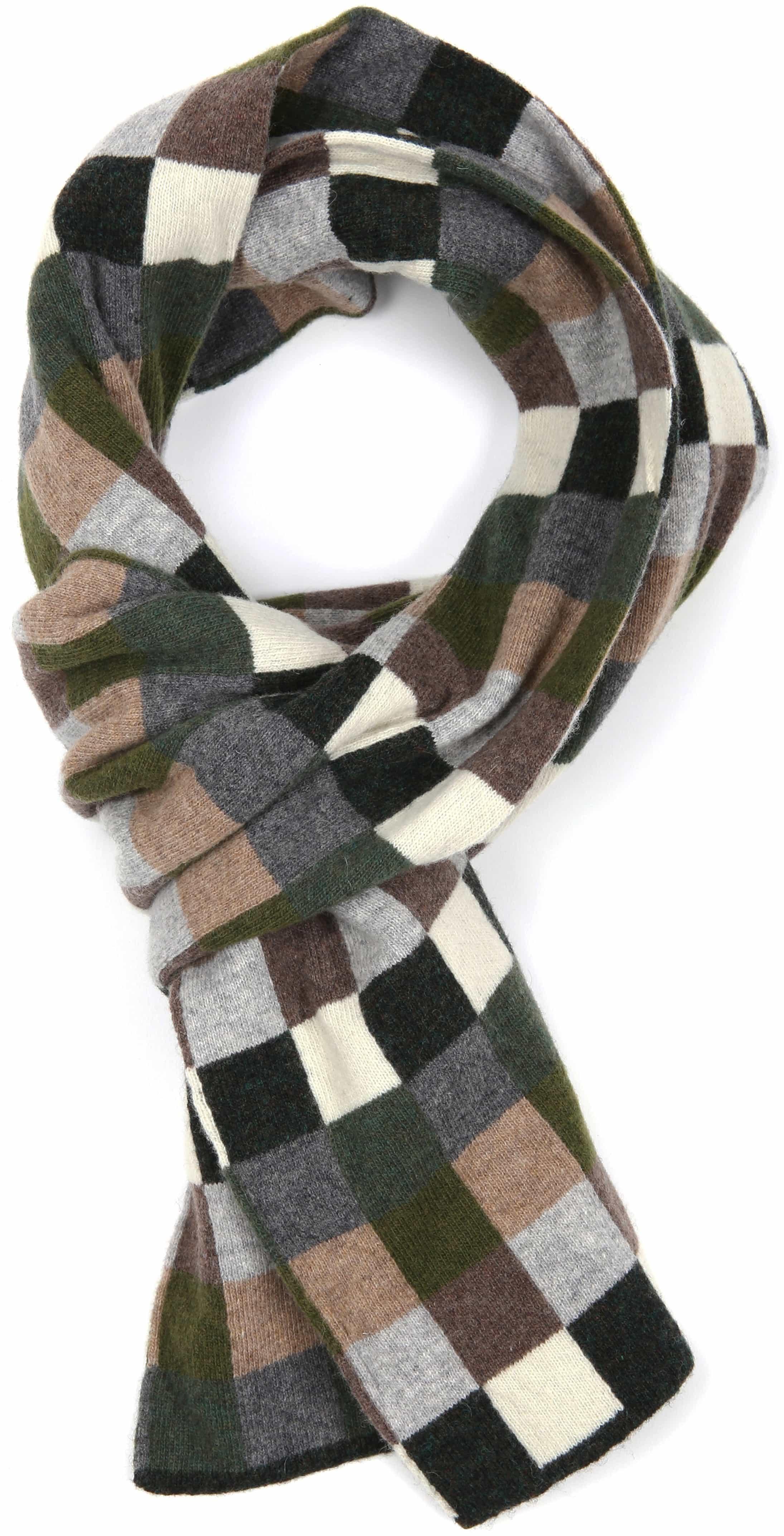 Profuomo Scarf Checkered Green
