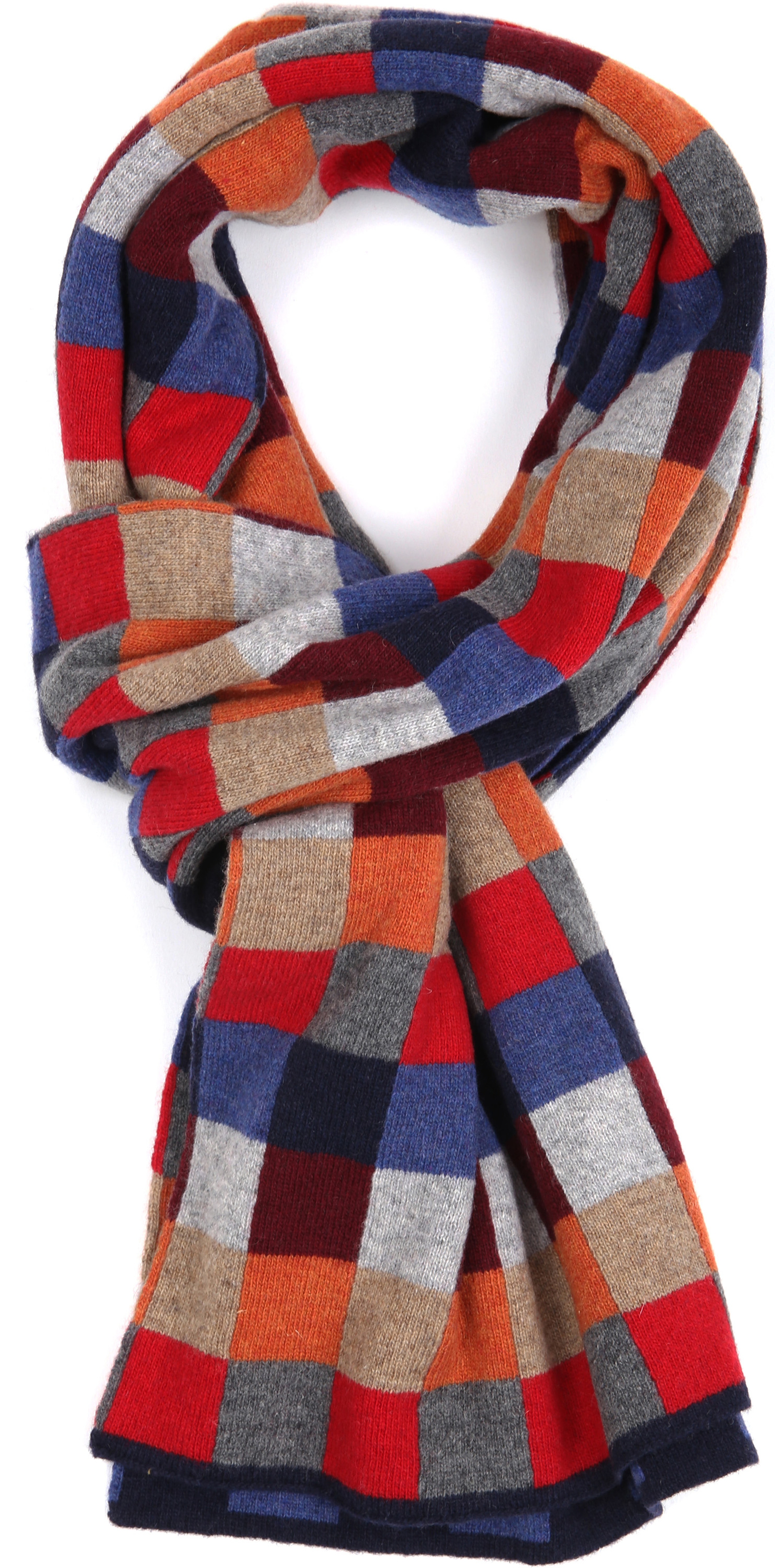 Profuomo Scarf Red Checks Wool foto 0