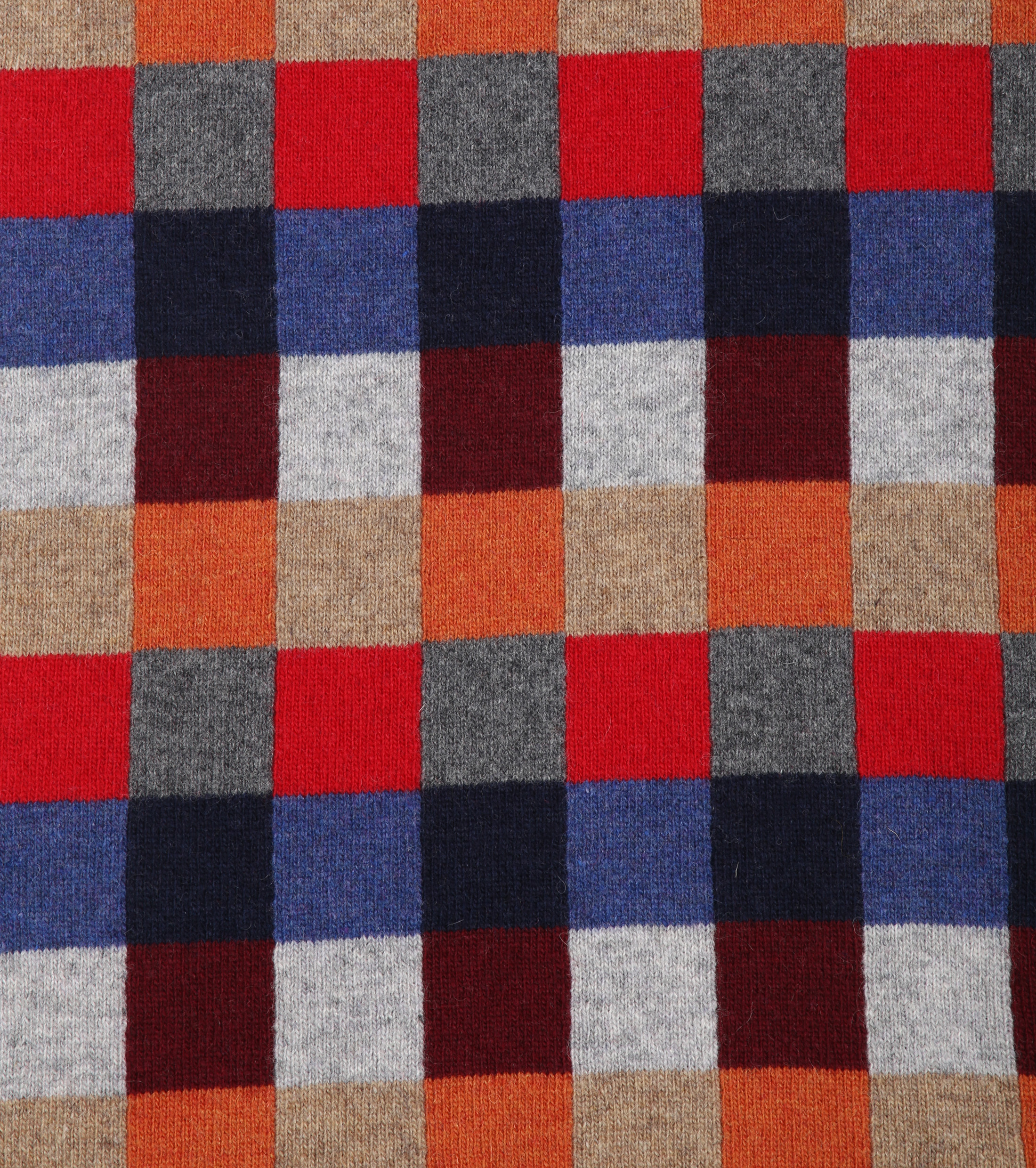 Profuomo Scarf Red Checks Wool foto 1