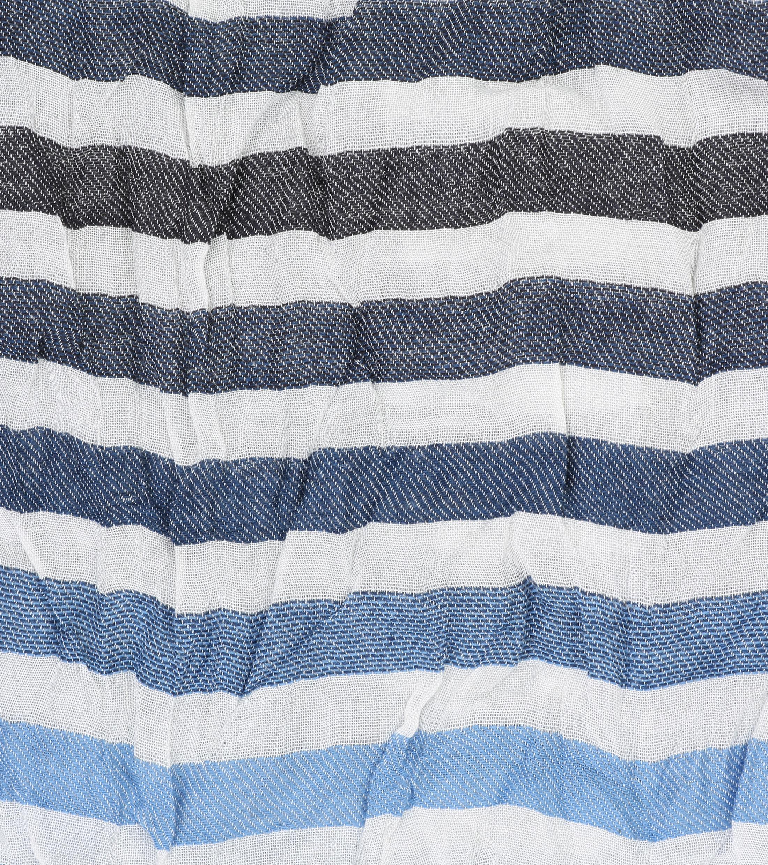 Profuomo Schal Blue White Streifen foto 1