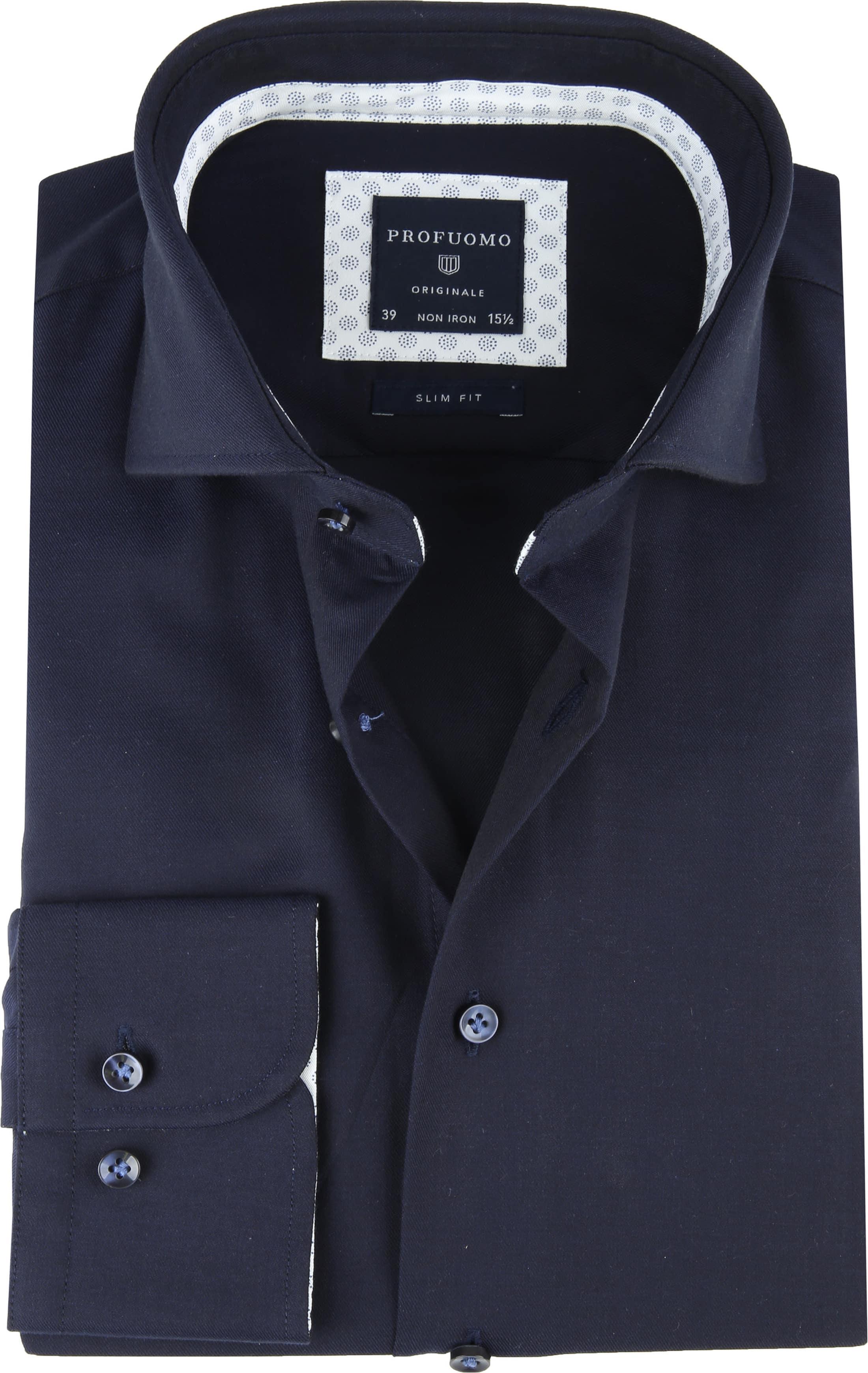Profuomo SF Overhemd Donkerblauw foto 0