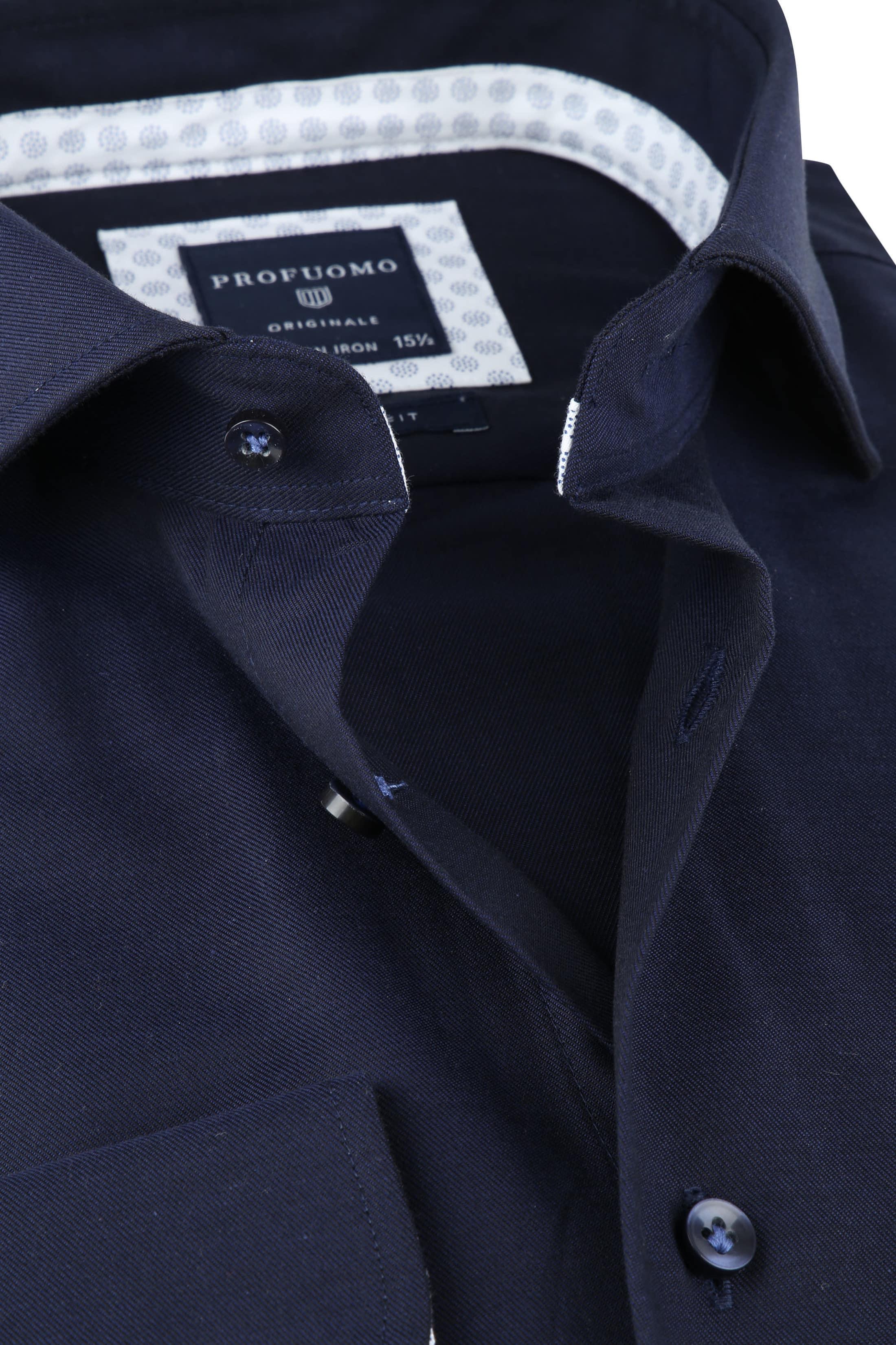 Profuomo SF Overhemd Donkerblauw foto 1