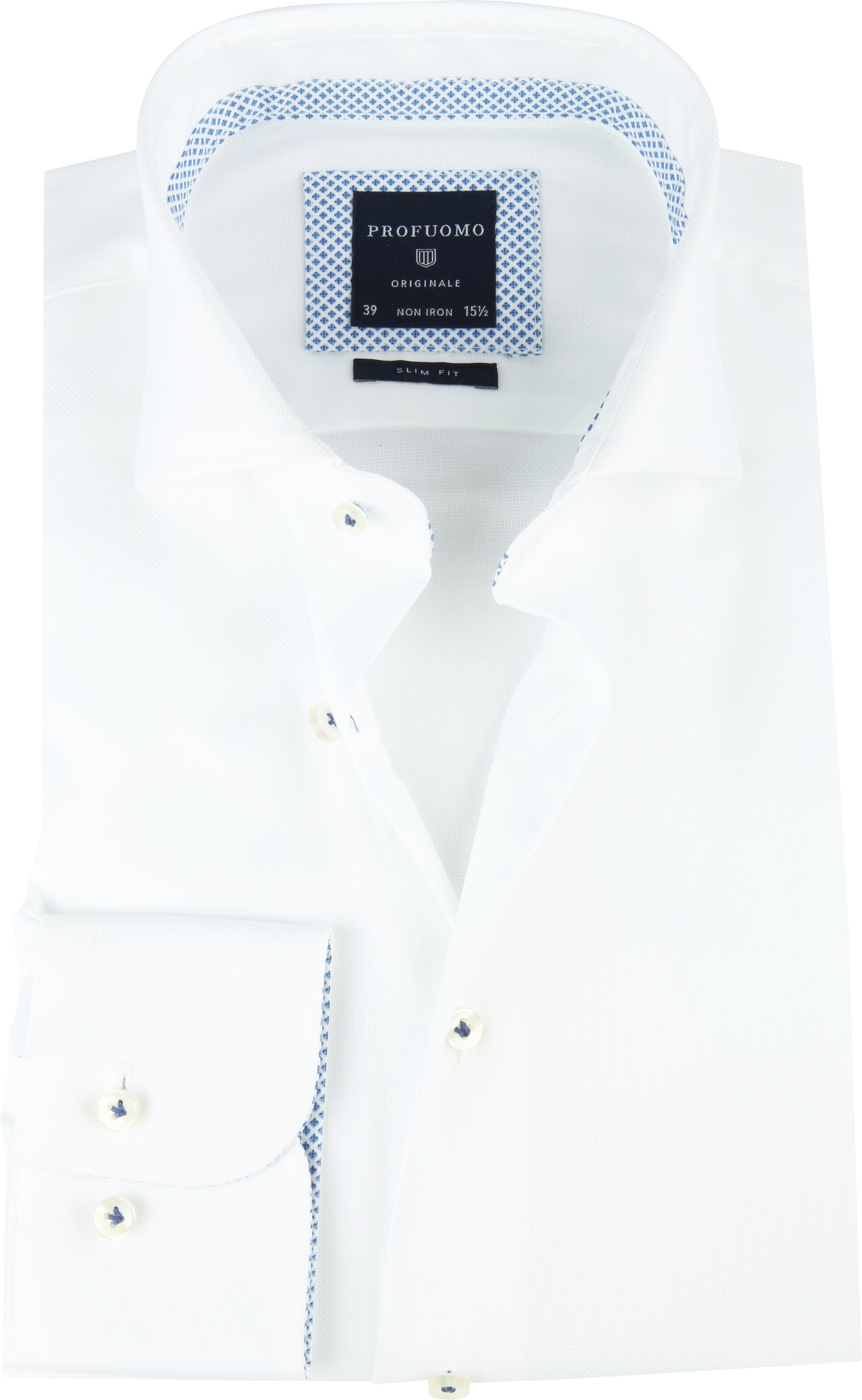 Profuomo SF Overhemd Woven Wit foto 0