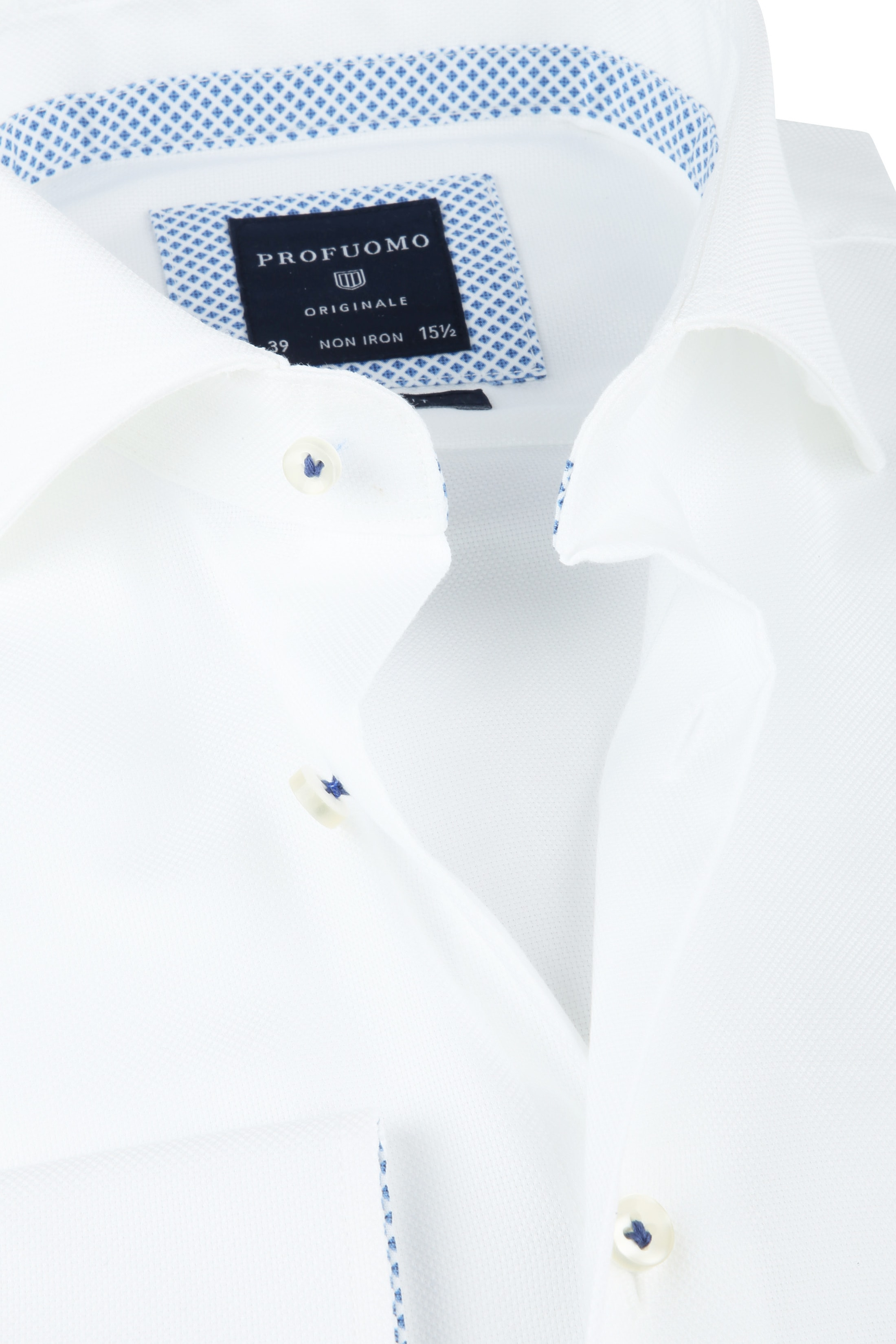 Profuomo SF Overhemd Woven Wit foto 1