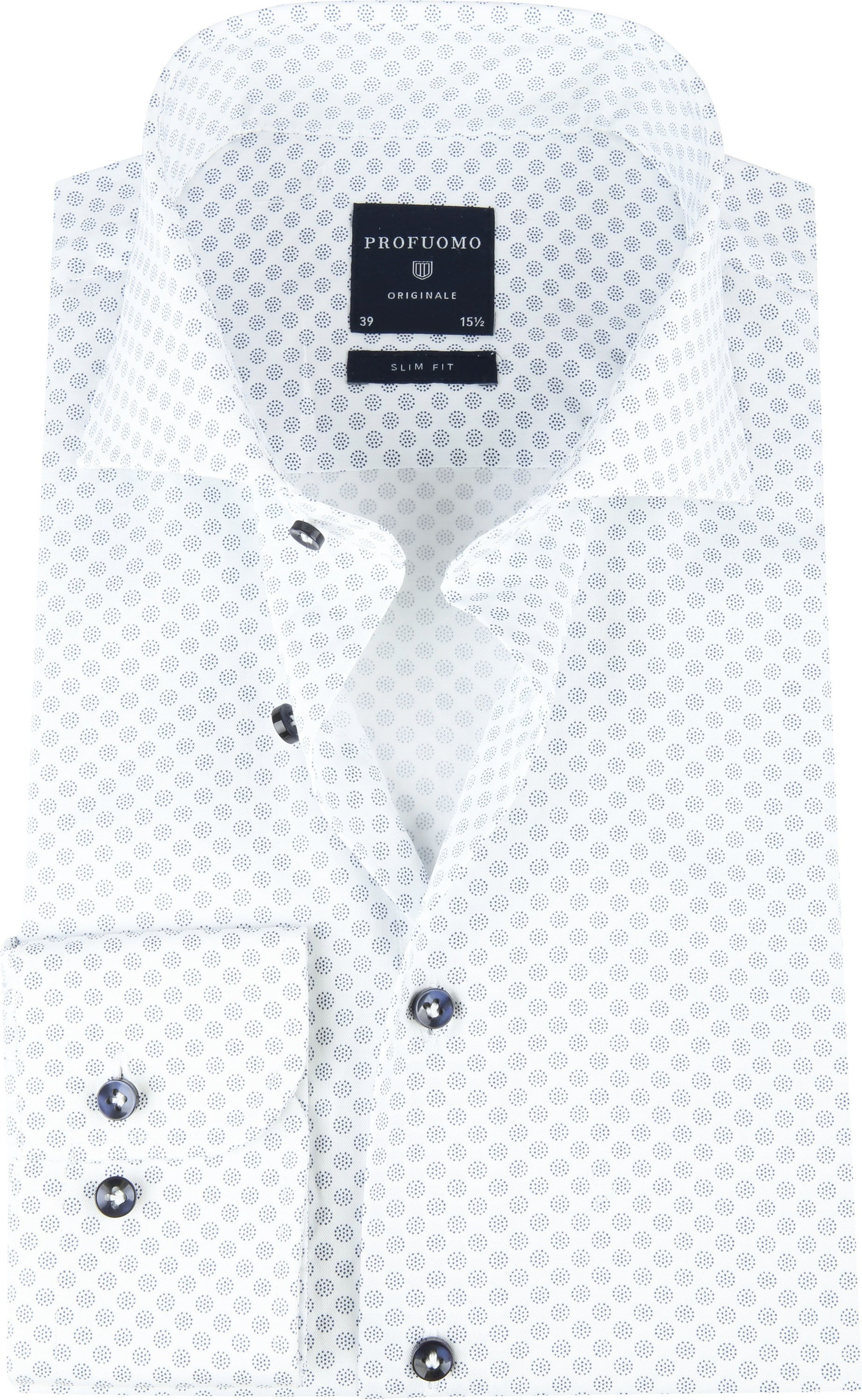 Profuomo SF Shirt Dots Blue foto 0
