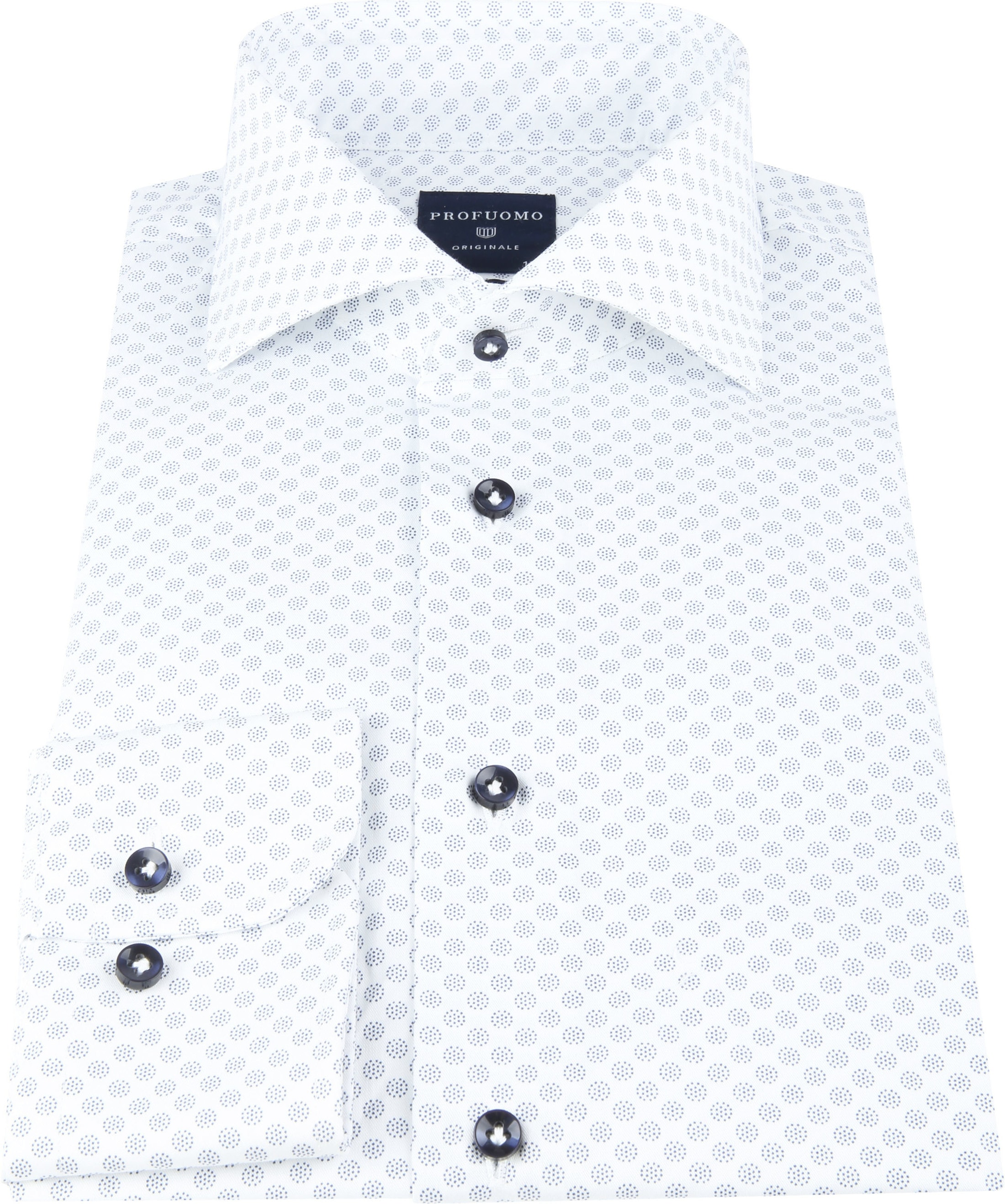 Profuomo SF Shirt Dots Blue foto 2