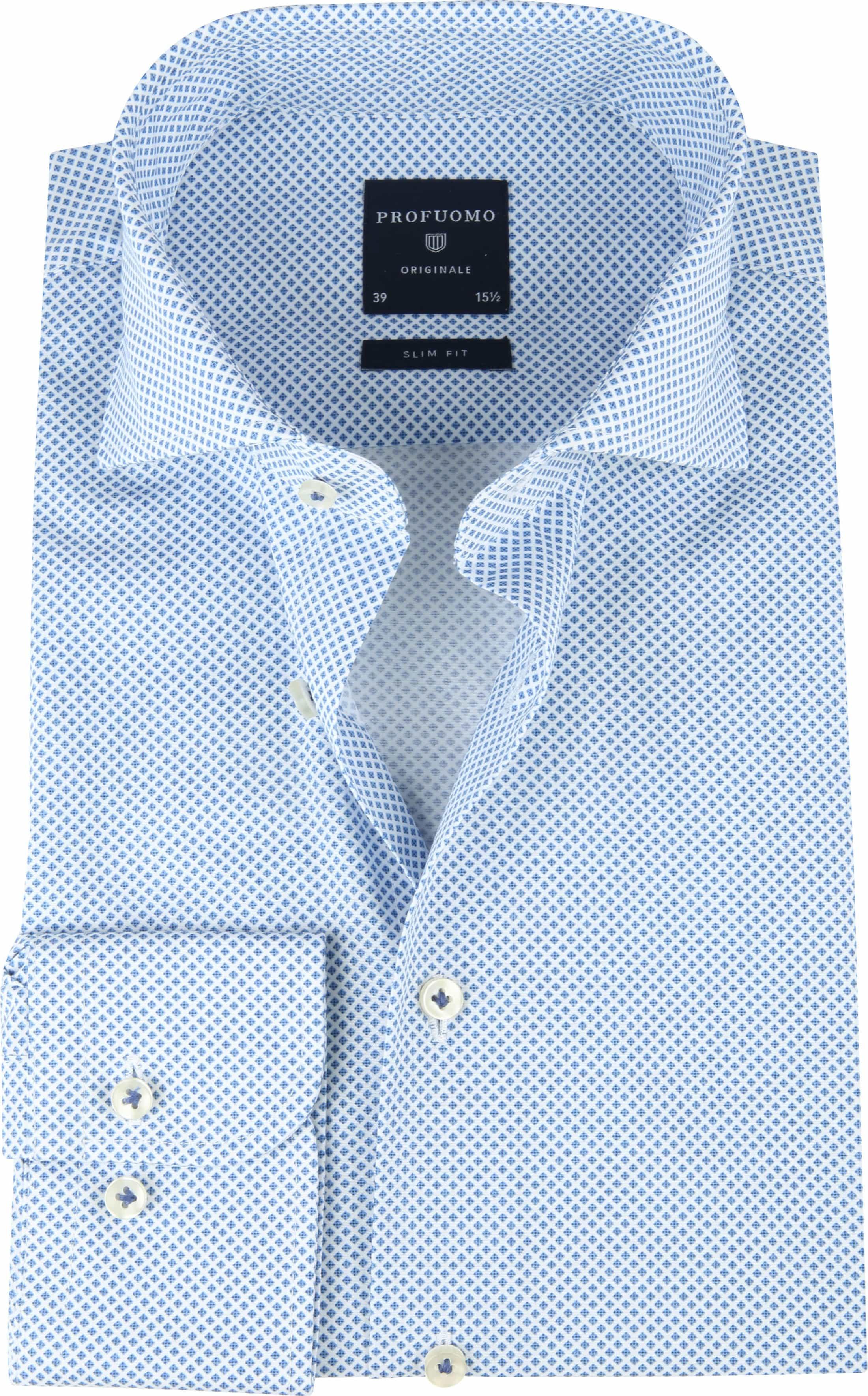 Profuomo SF Shirt Pane Blue foto 0