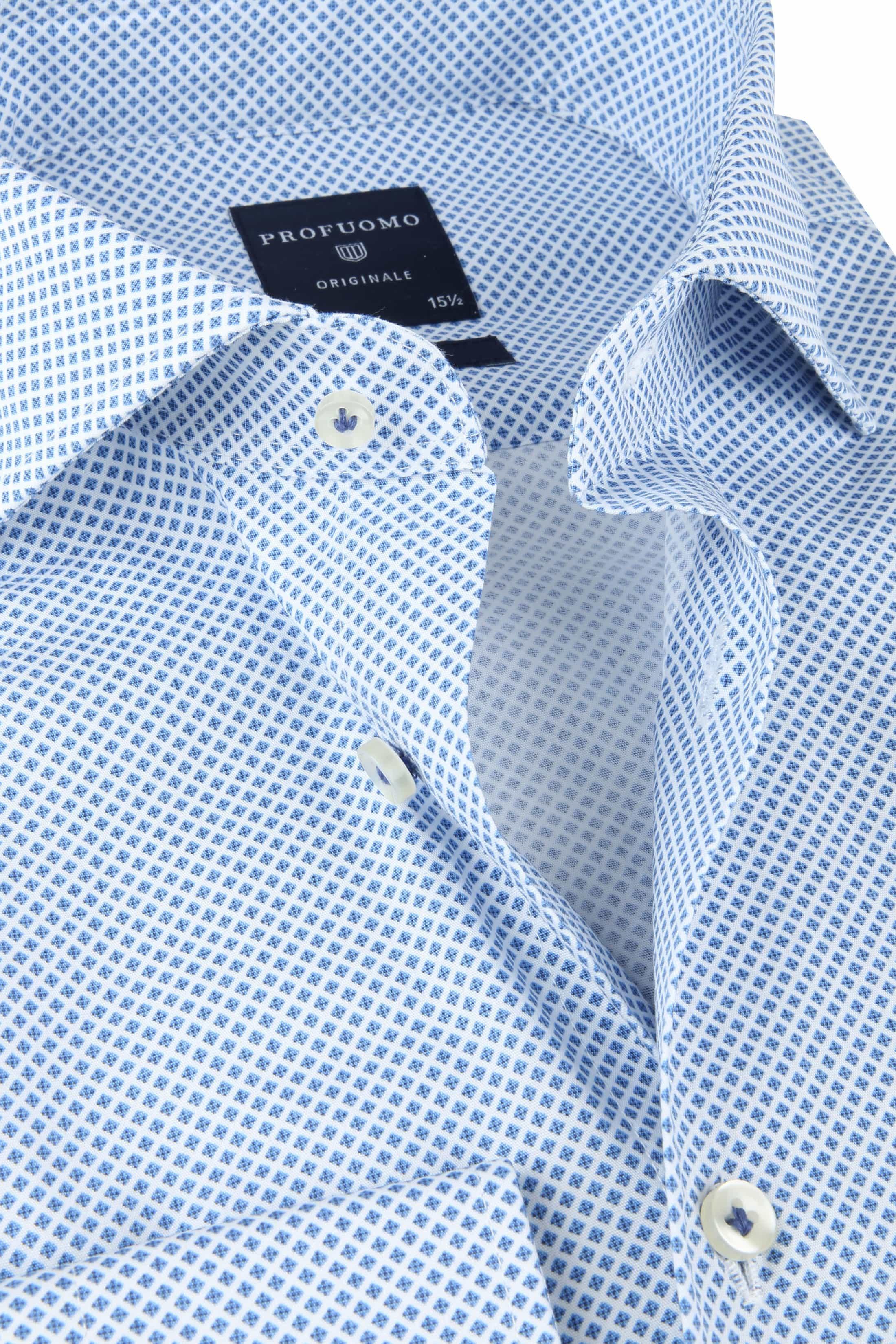 Profuomo SF Shirt Pane Blue foto 1