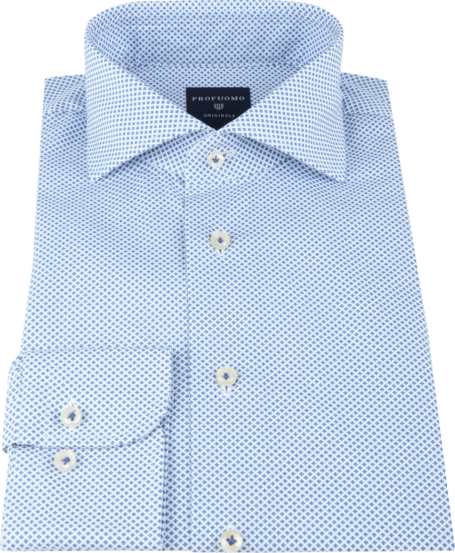 Profuomo SF Shirt Pane Blue foto 2