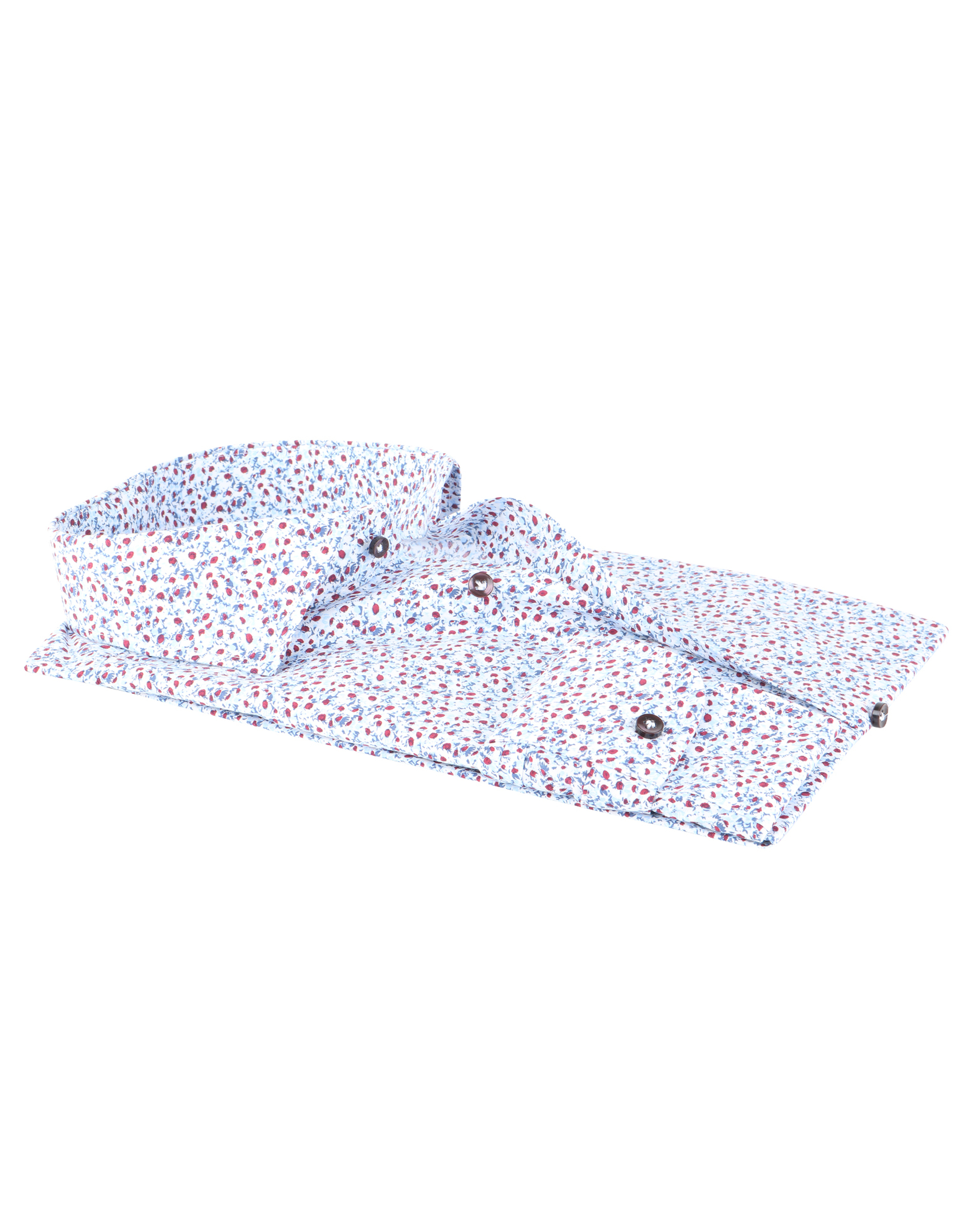 Profuomo Shirt Blue Red Flower foto 2