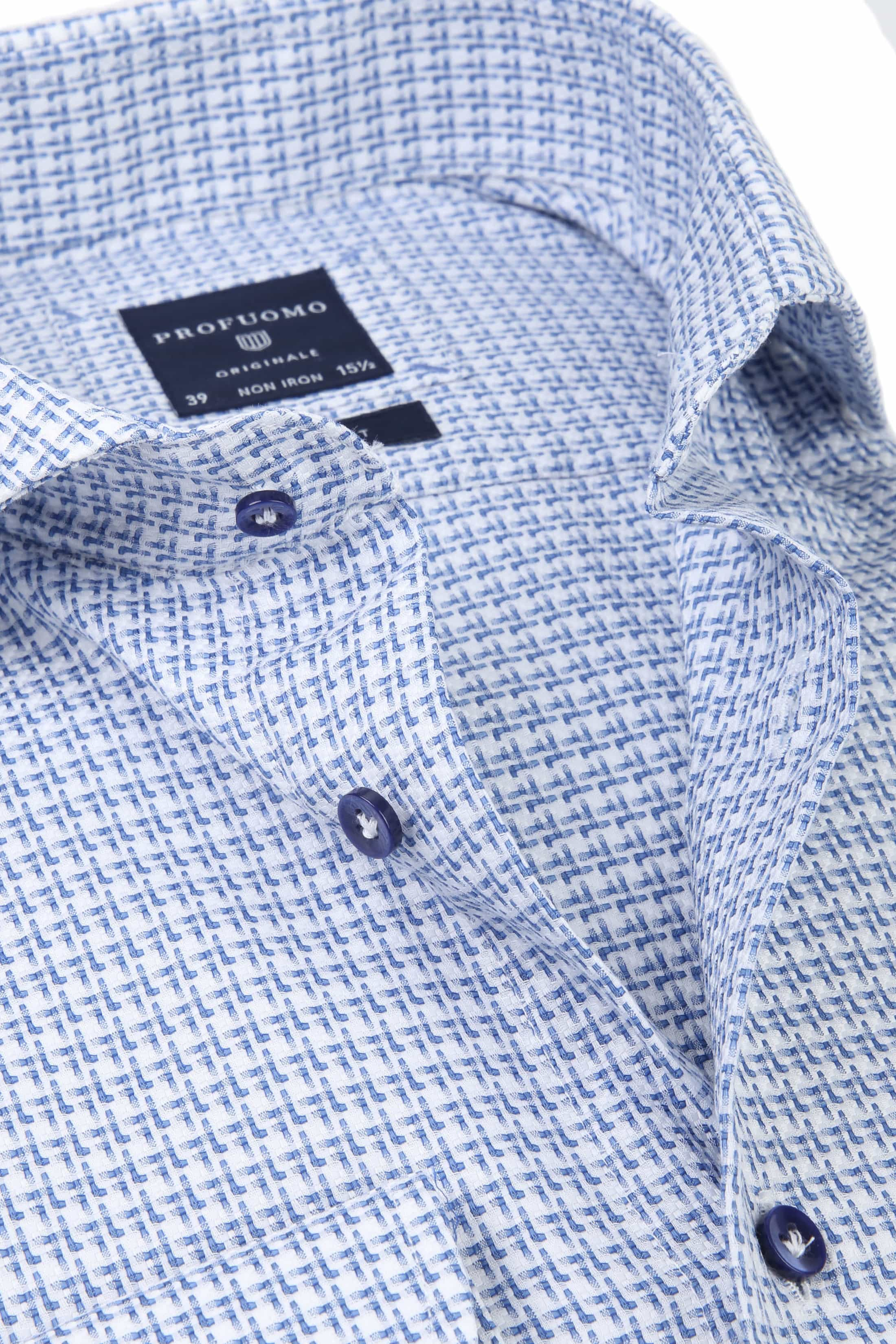 Profuomo Shirt CAW Dessin Blue foto 1