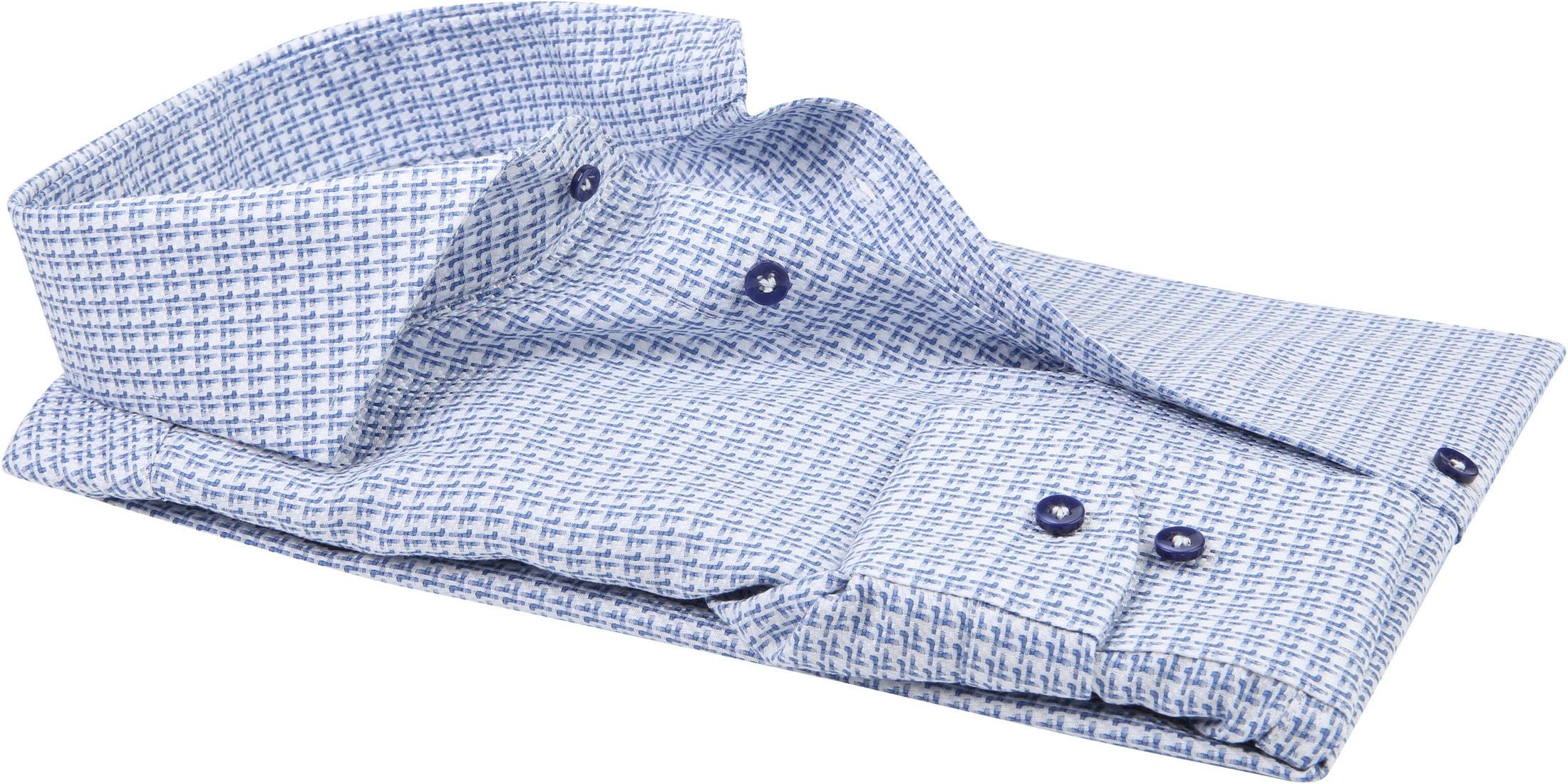 Profuomo Shirt CAW Dessin Blue foto 2