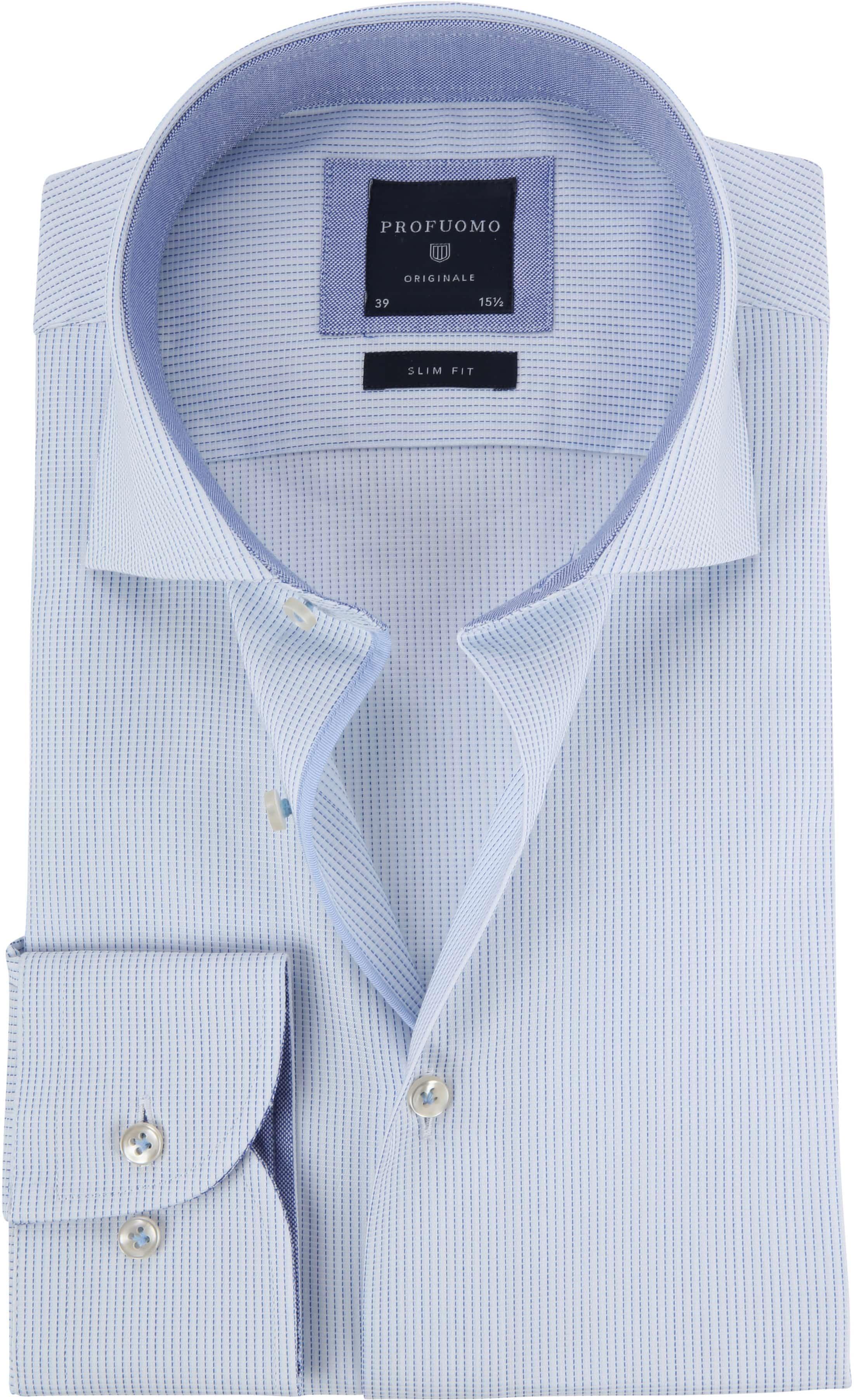 Profuomo Shirt CAW Light Blue Dessin foto 0