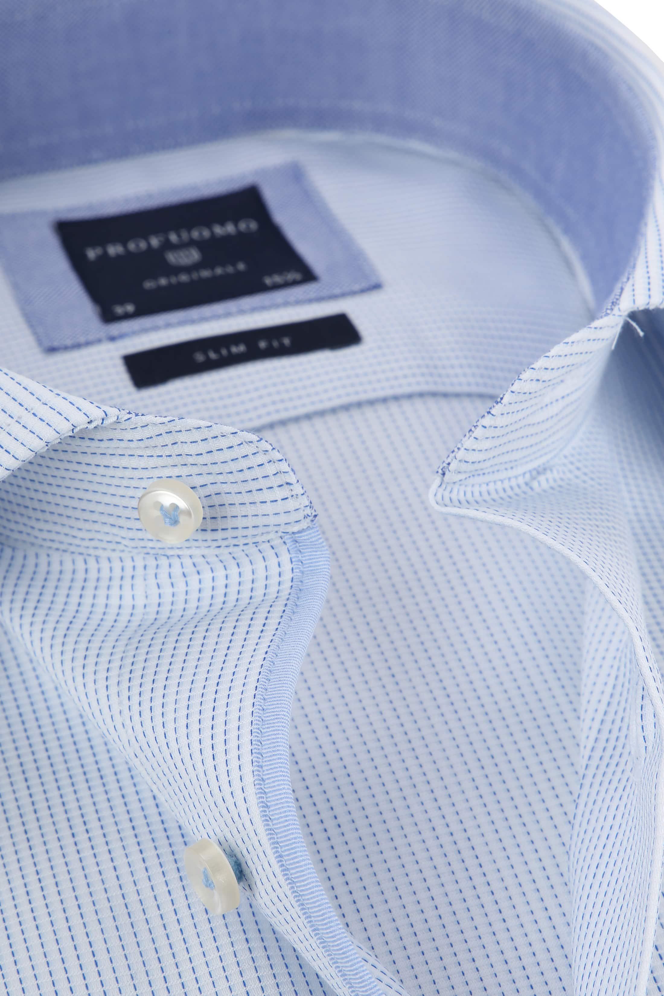 Profuomo Shirt CAW Light Blue Dessin foto 1