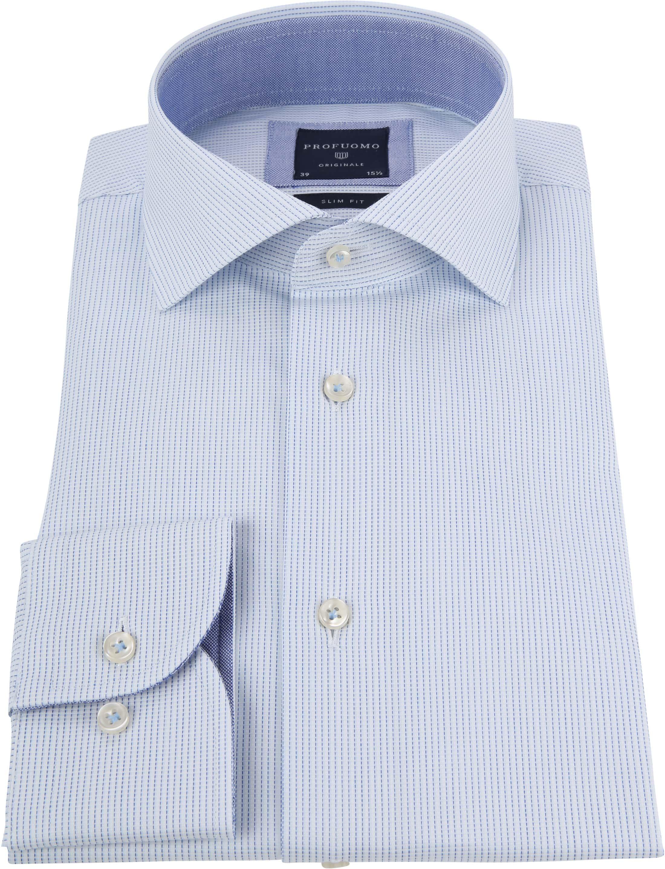 Profuomo Shirt CAW Light Blue Dessin foto 3
