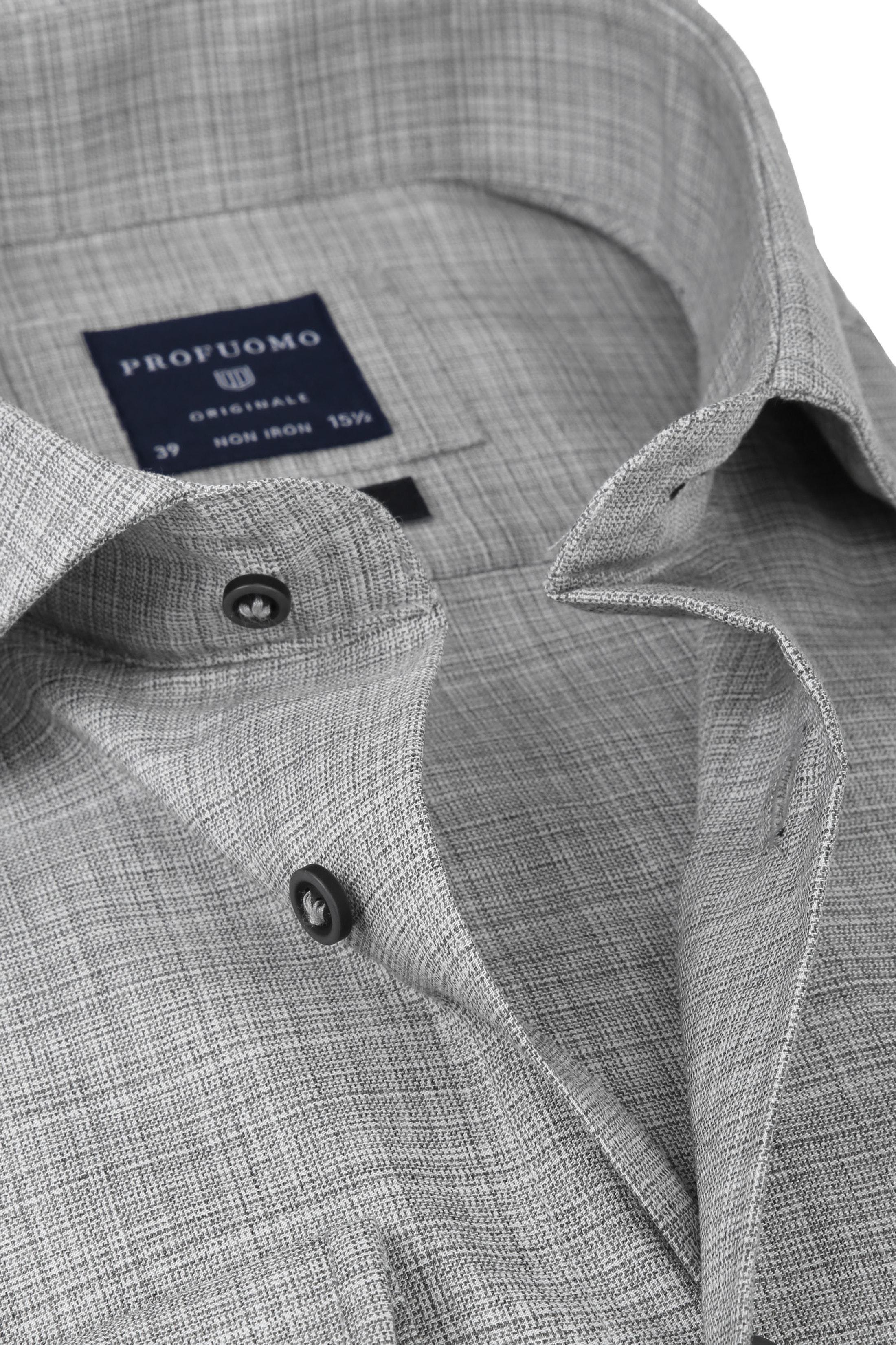 Profuomo Shirt CAW Melange Grey foto 1