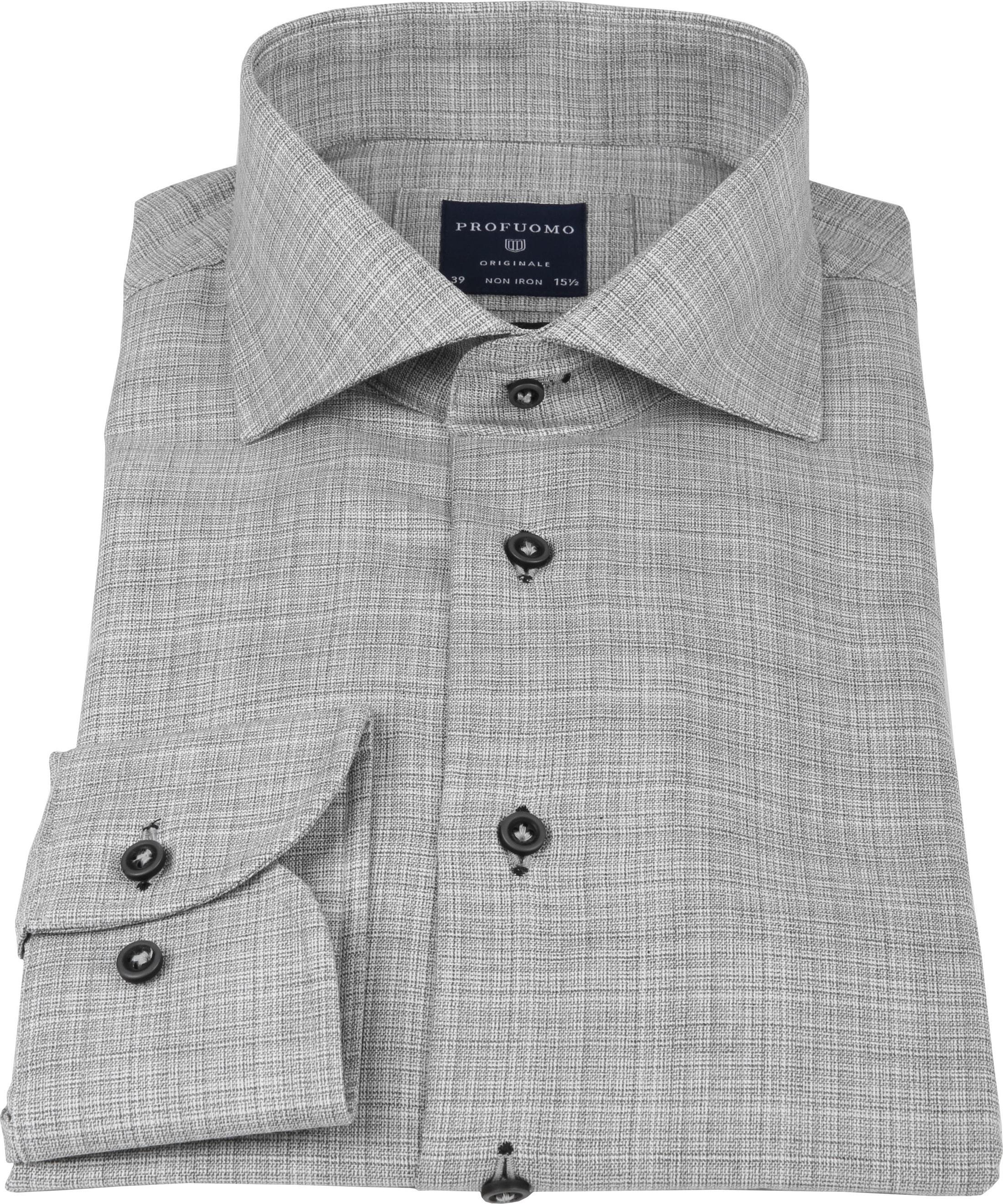Profuomo Shirt CAW Melange Grey foto 3
