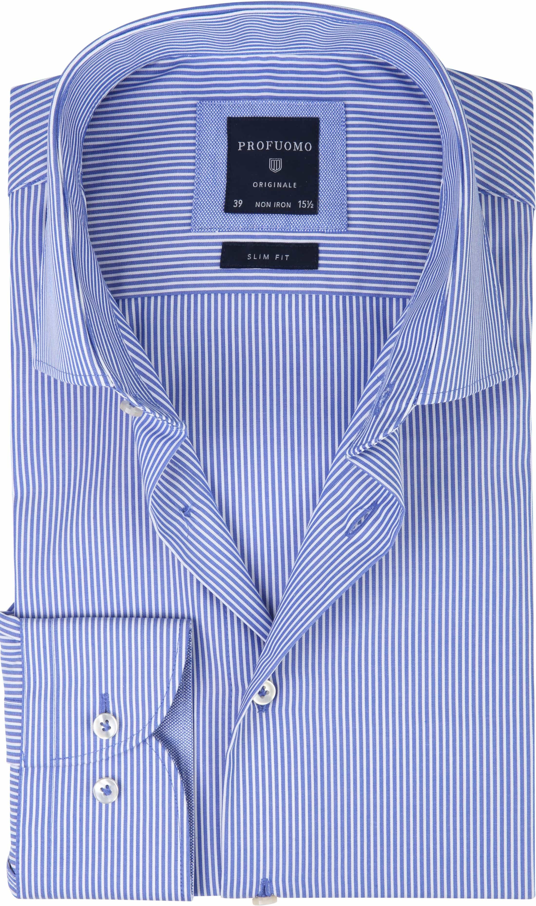 Profuomo Shirt CAW Striped Blue foto 0