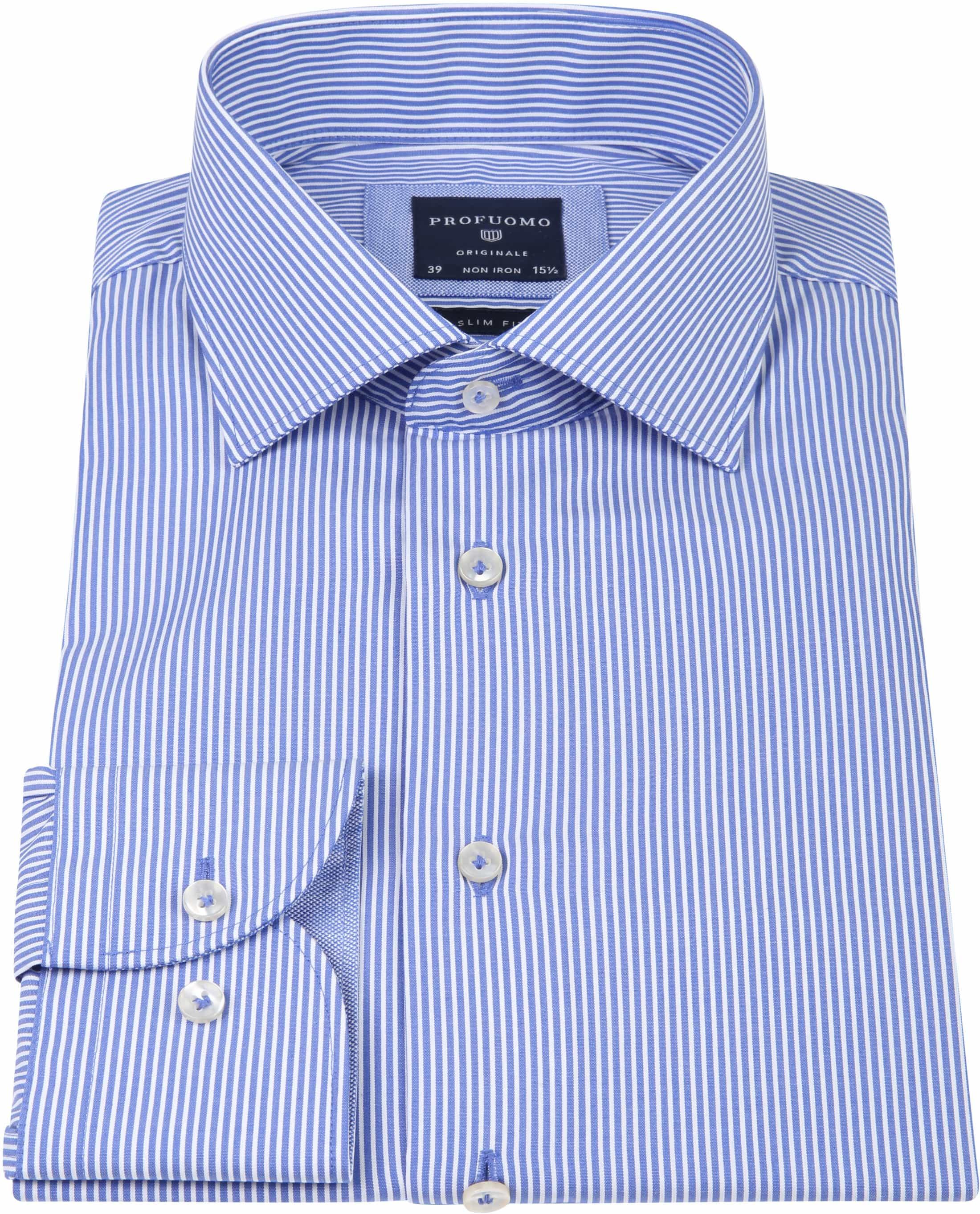 Profuomo Shirt CAW Striped Blue foto 3