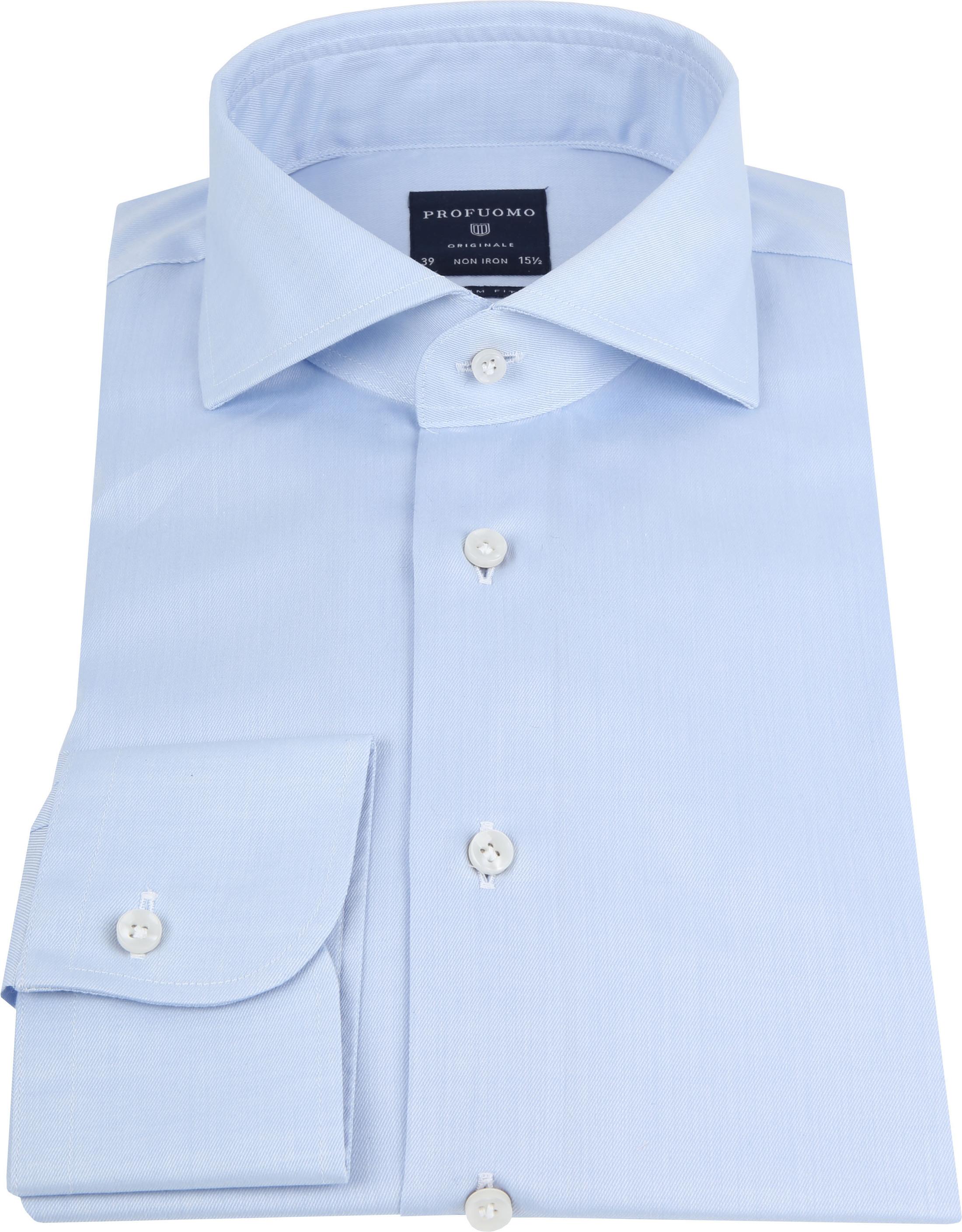 Profuomo Shirt Cutaway Blue foto 2