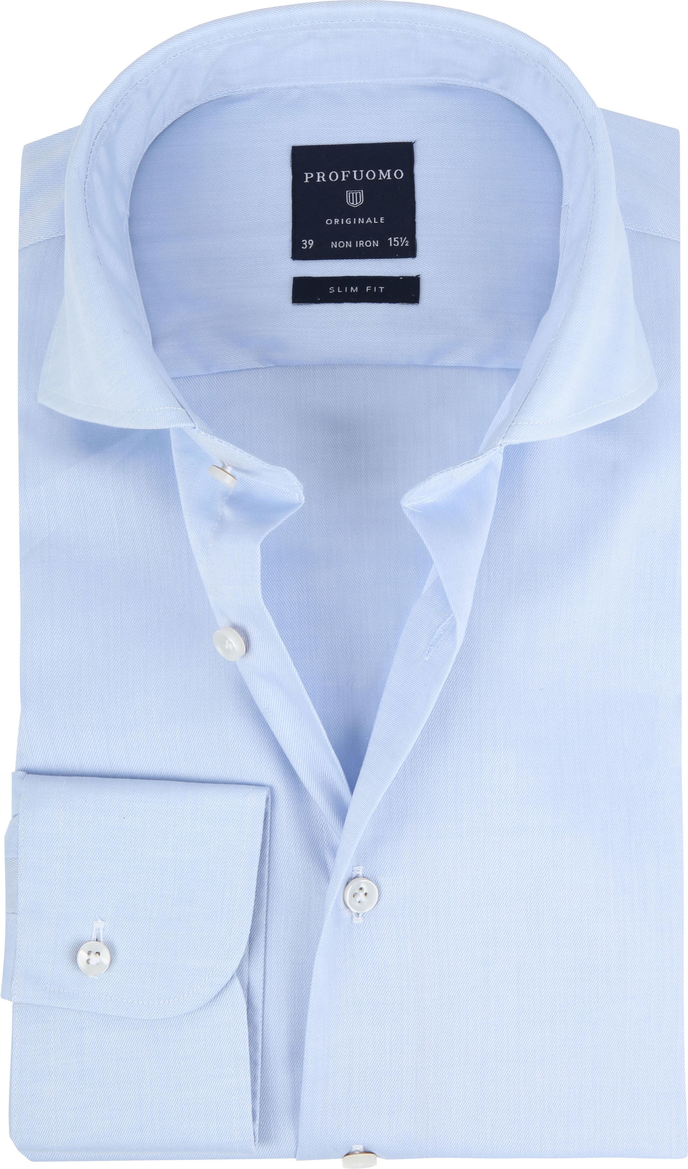 Profuomo Shirt Cutaway Blue foto 0