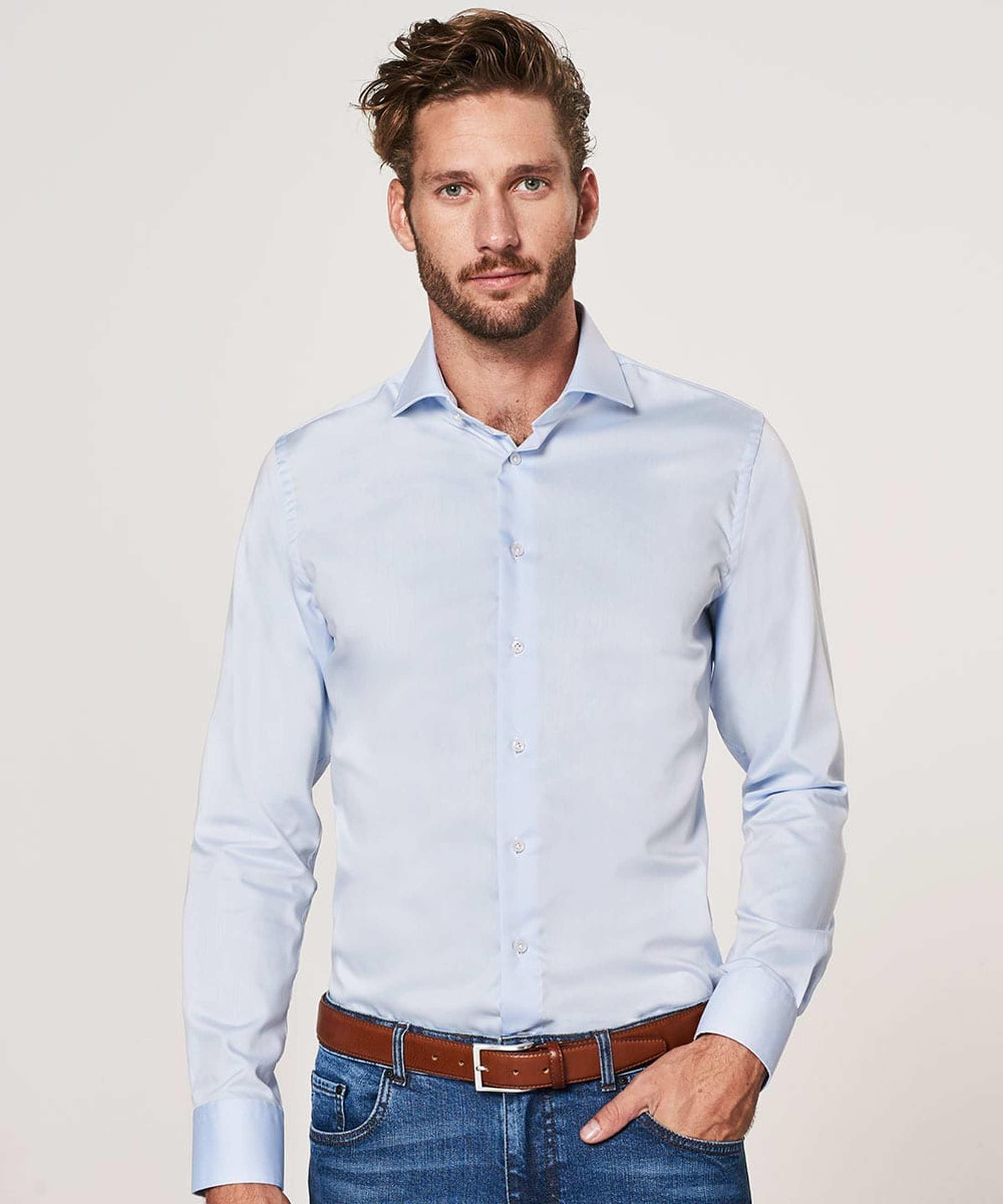 Profuomo Shirt Cutaway Blue foto 4