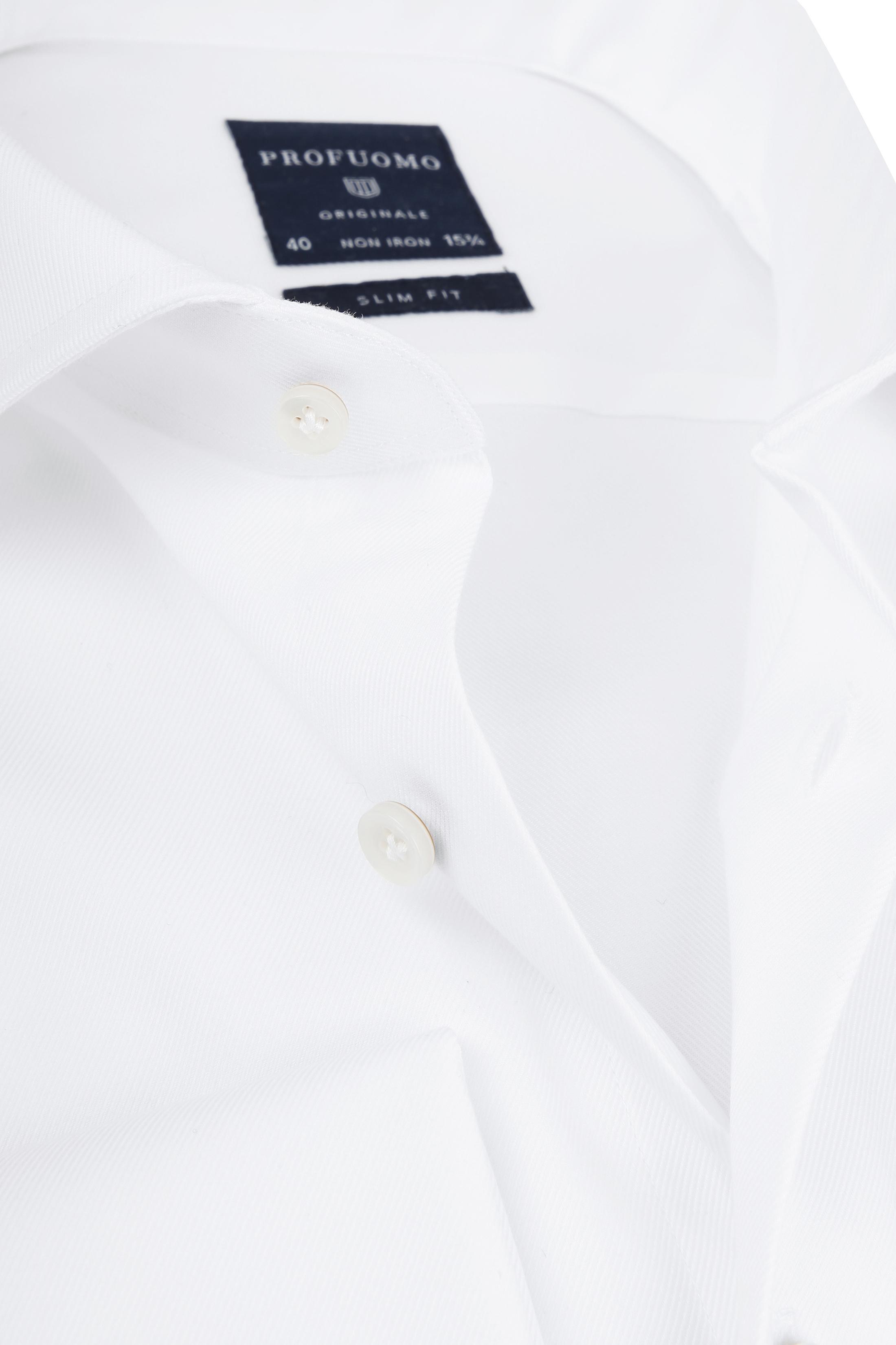 Profuomo Shirt Cutaway Doppel Manschette Weiß foto 1