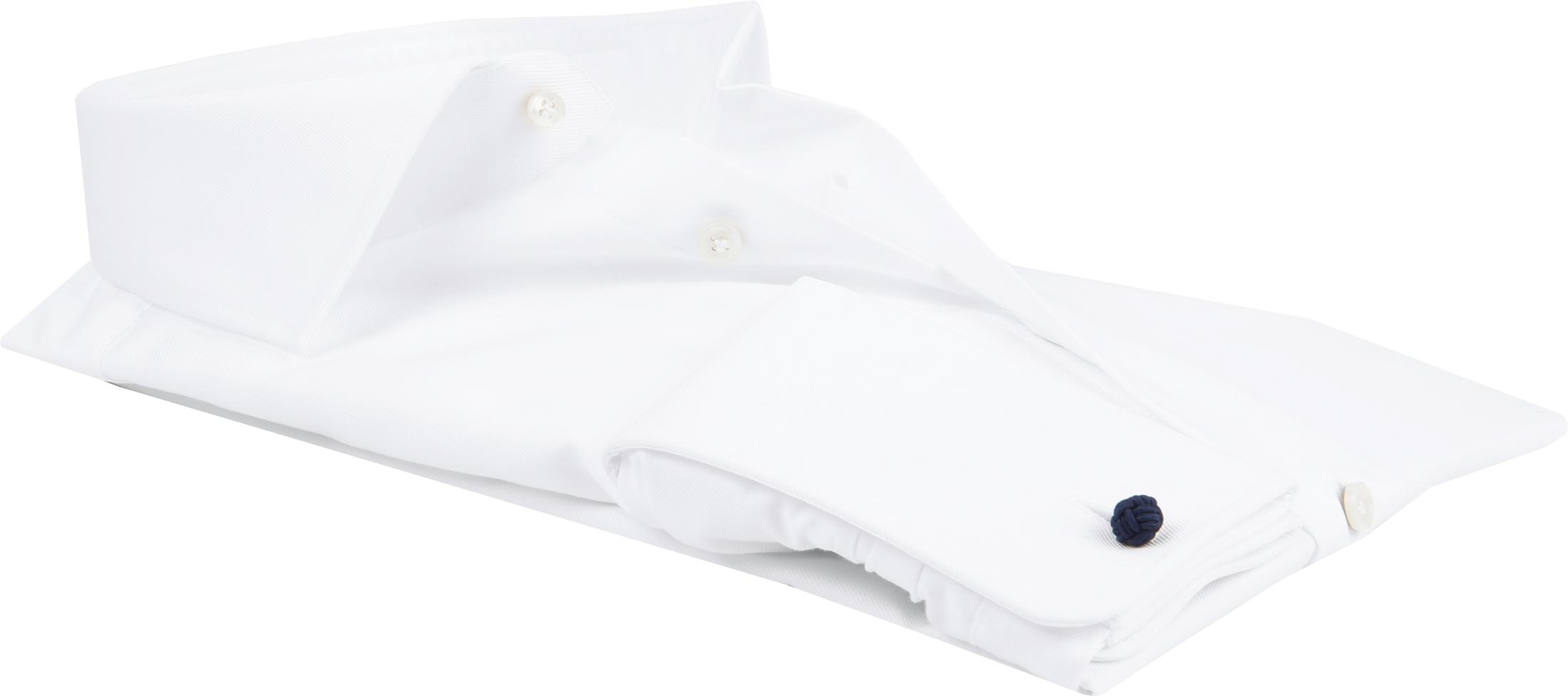 Profuomo Shirt Cutaway Doppel Manschette Weiß foto 3