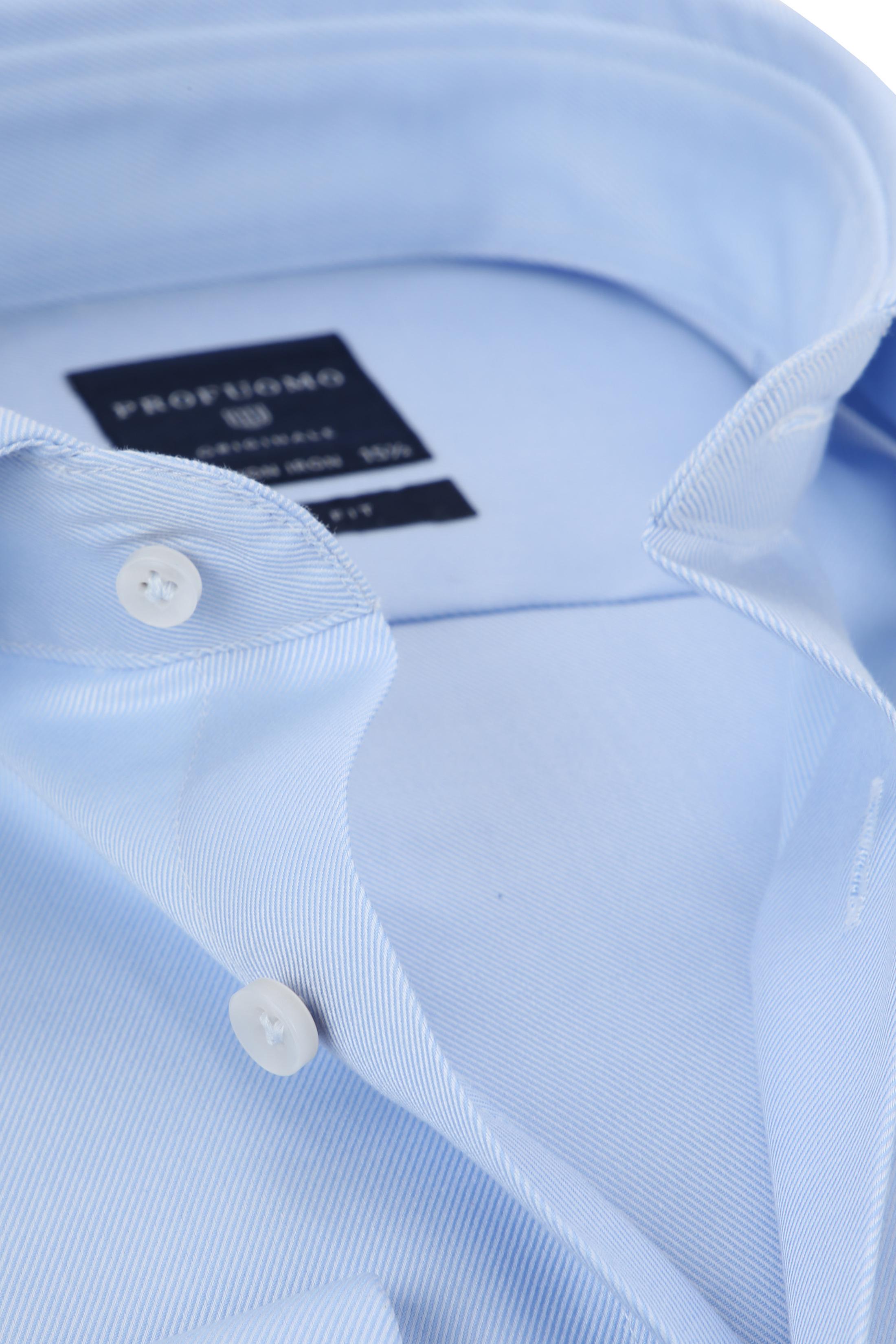 Profuomo Shirt Cutaway Double Cuff Blue foto 1