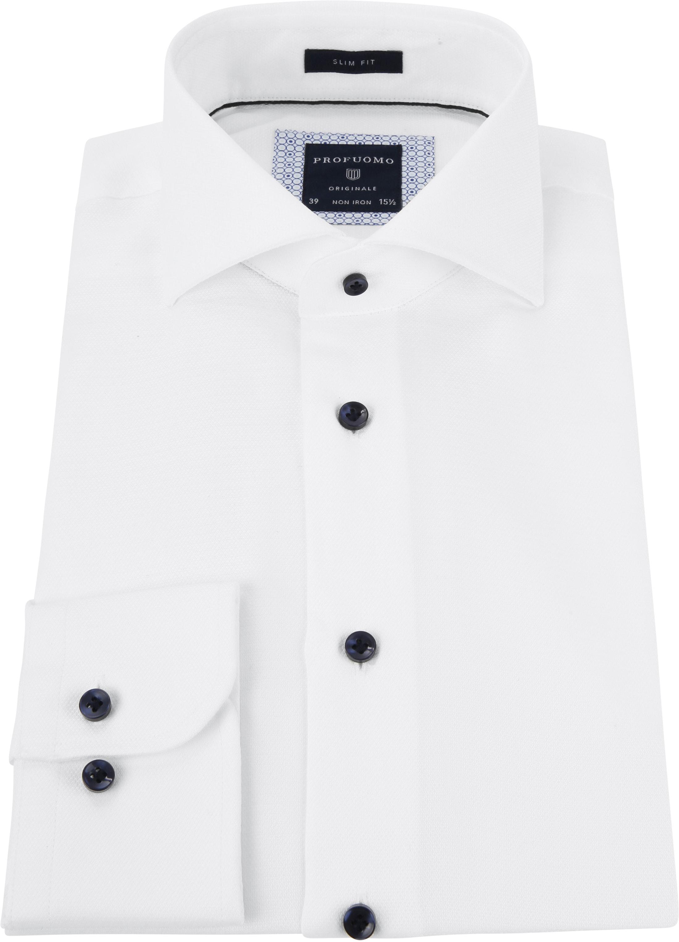 Profuomo Shirt Dobby White foto 3