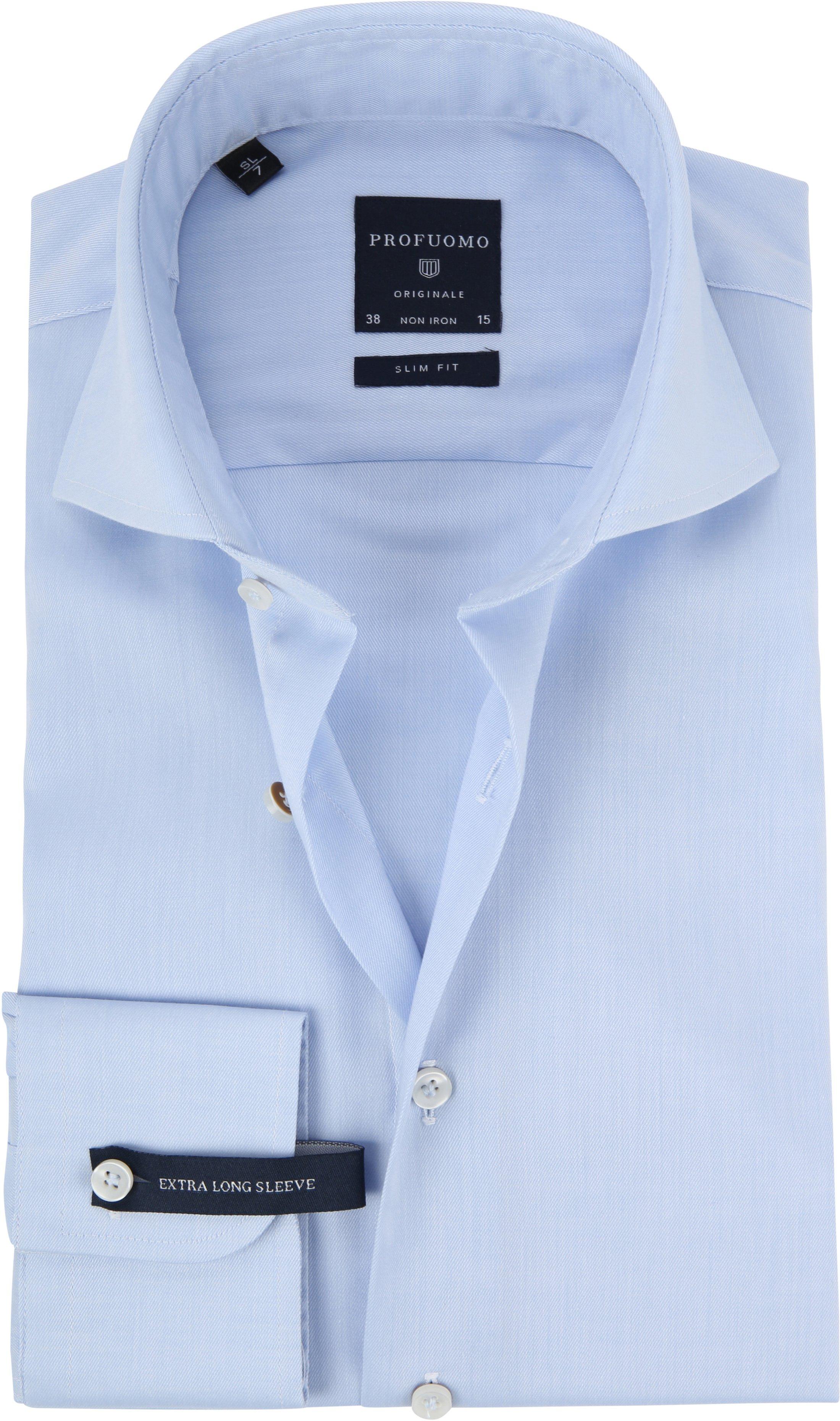 Profuomo Shirt Extra Long Sleeve Cutaway Light Blue