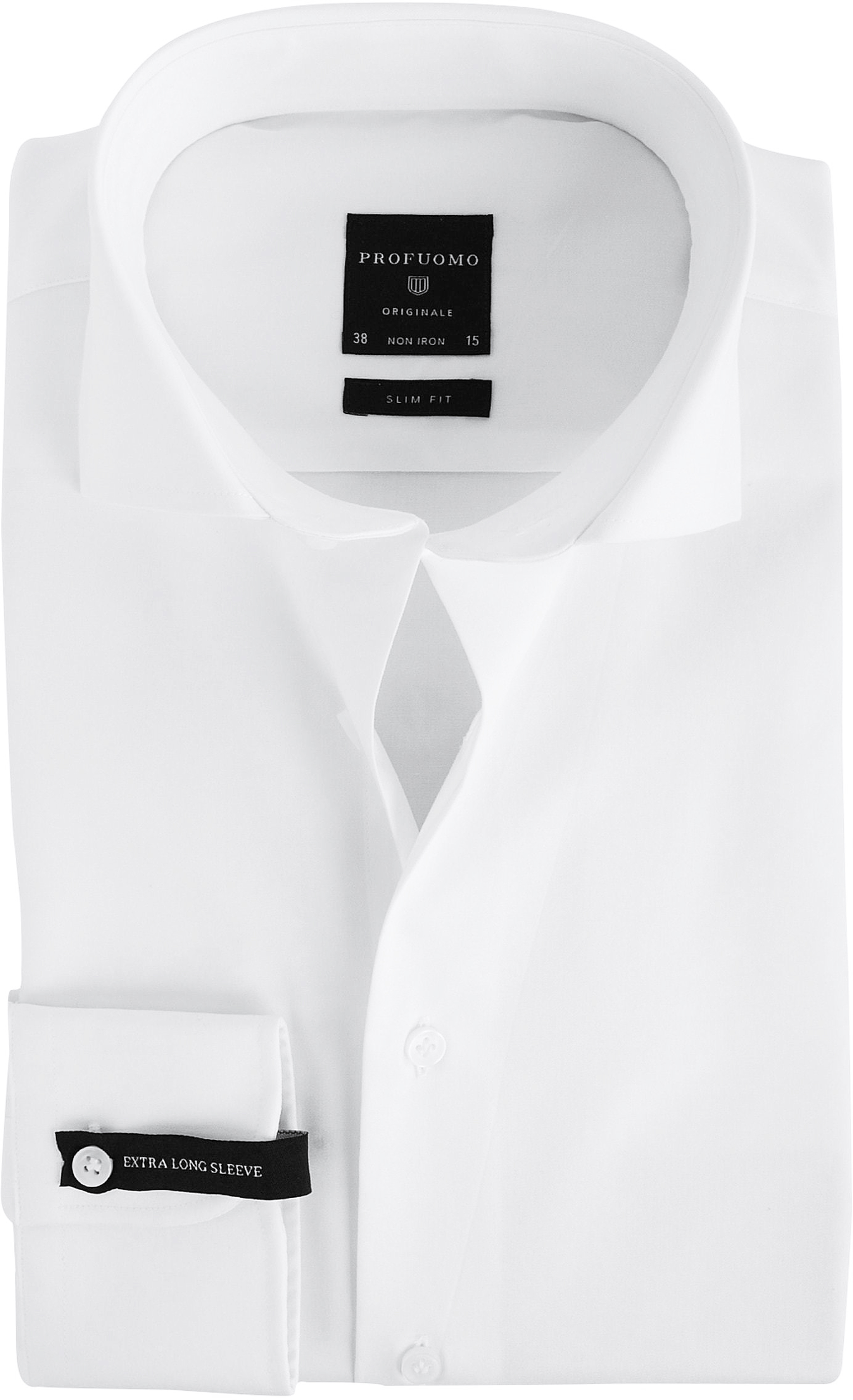 Profuomo Shirt Extra Long Sleeve Cutaway White
