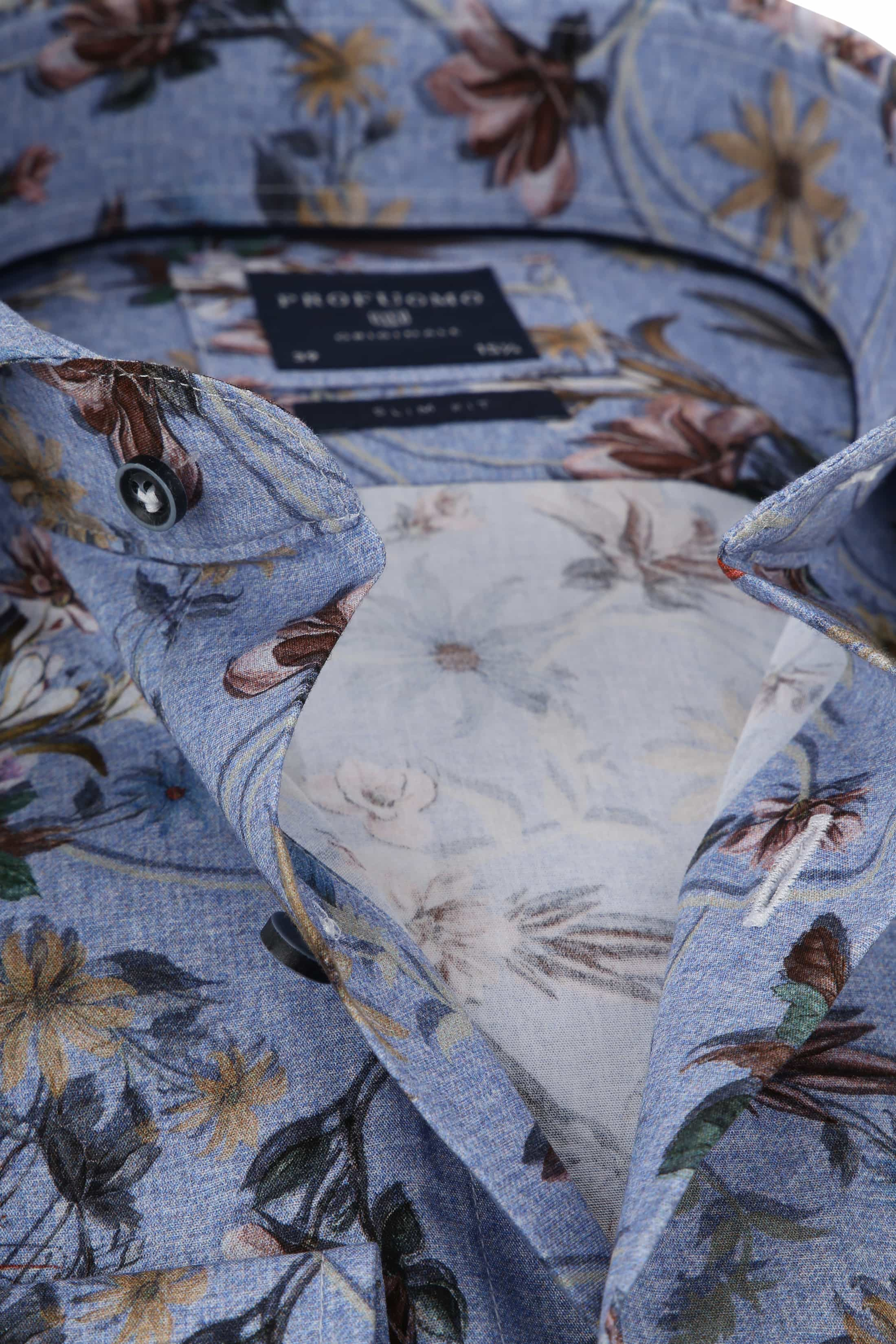 Profuomo Shirt Flowers Blue photo 1
