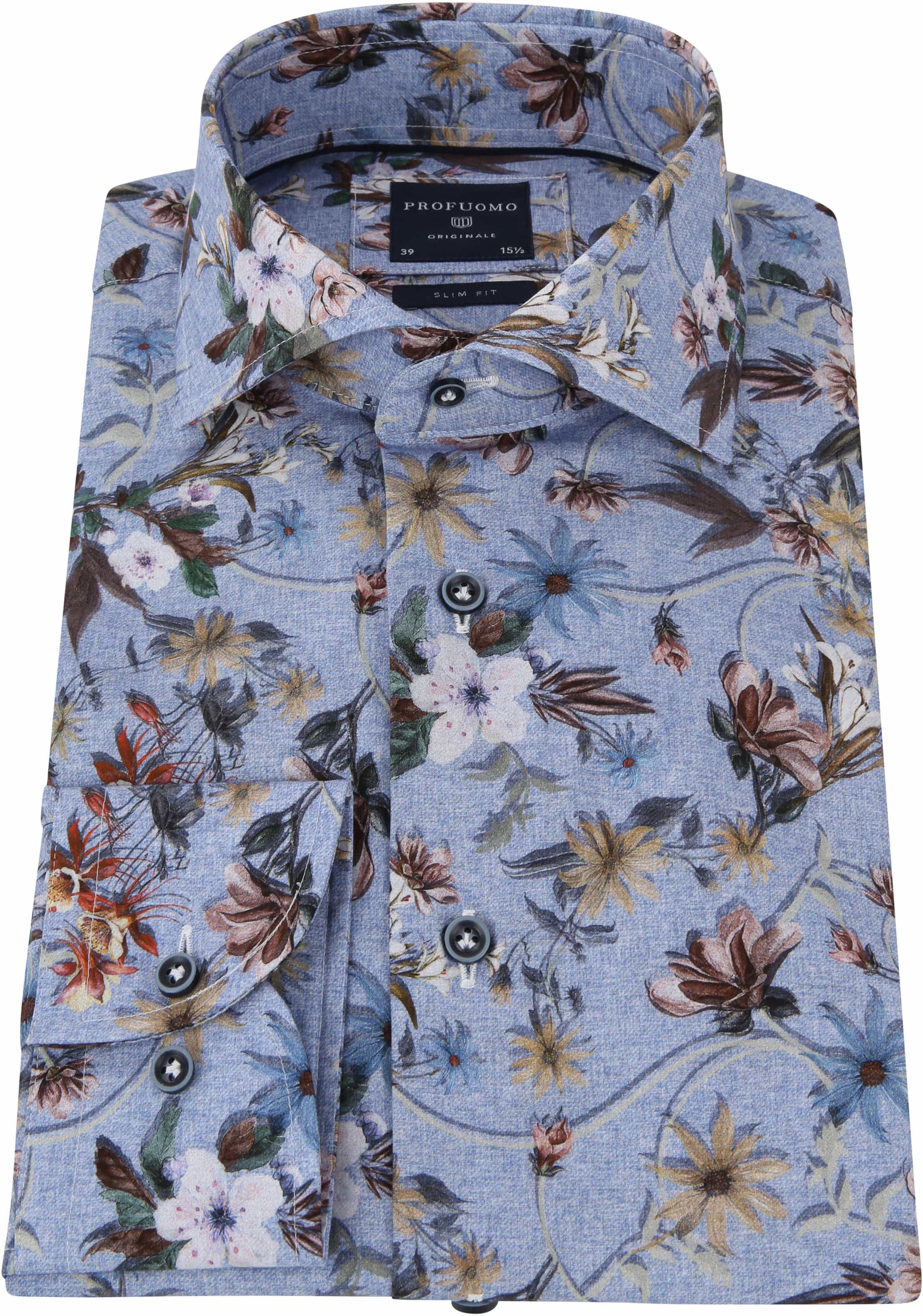 Profuomo Shirt Flowers Blue photo 2